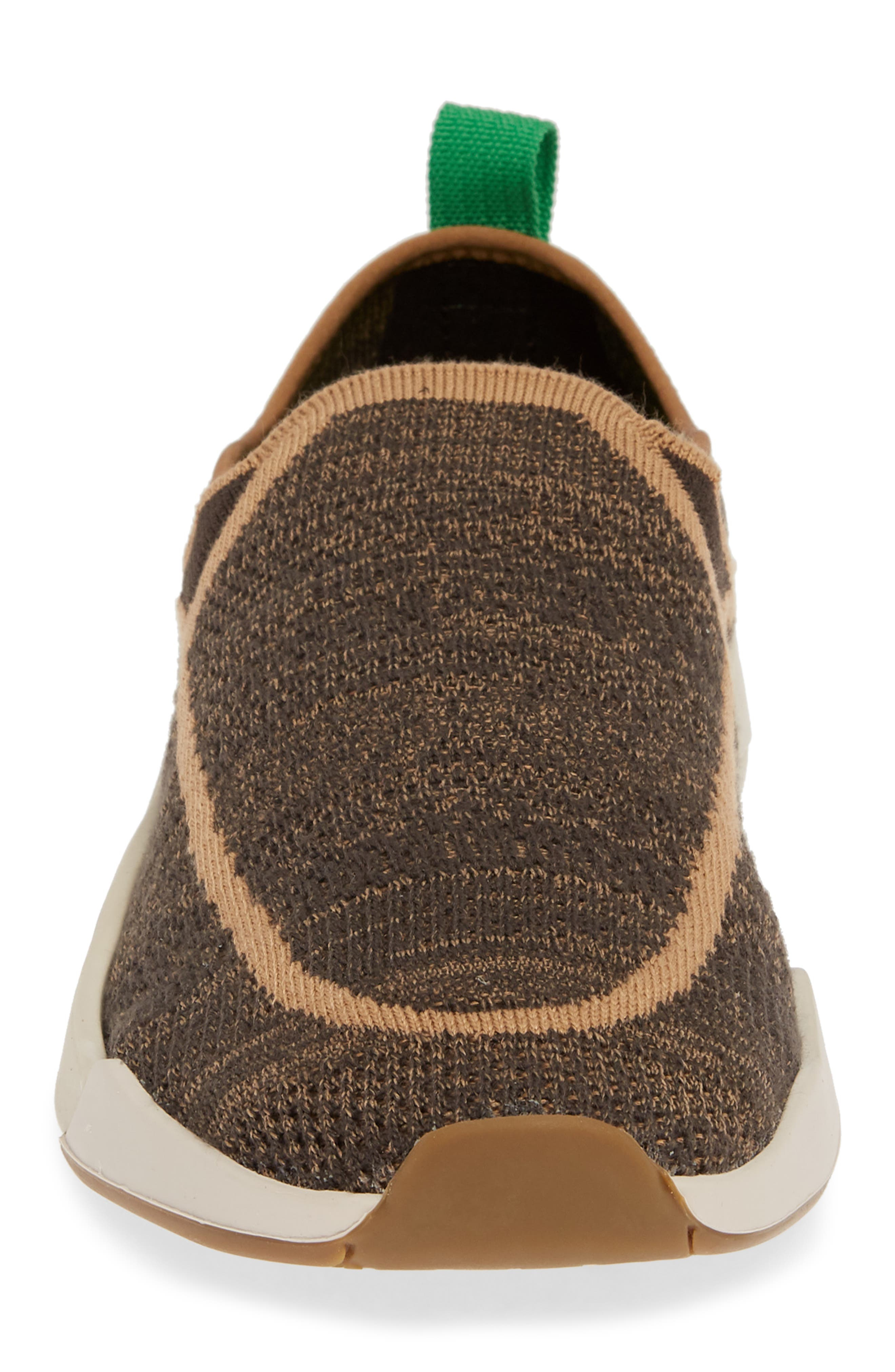 SANUK, Chiba Quest Knit Slip-On Sneaker, Alternate thumbnail 4, color, BROWN NATURAL
