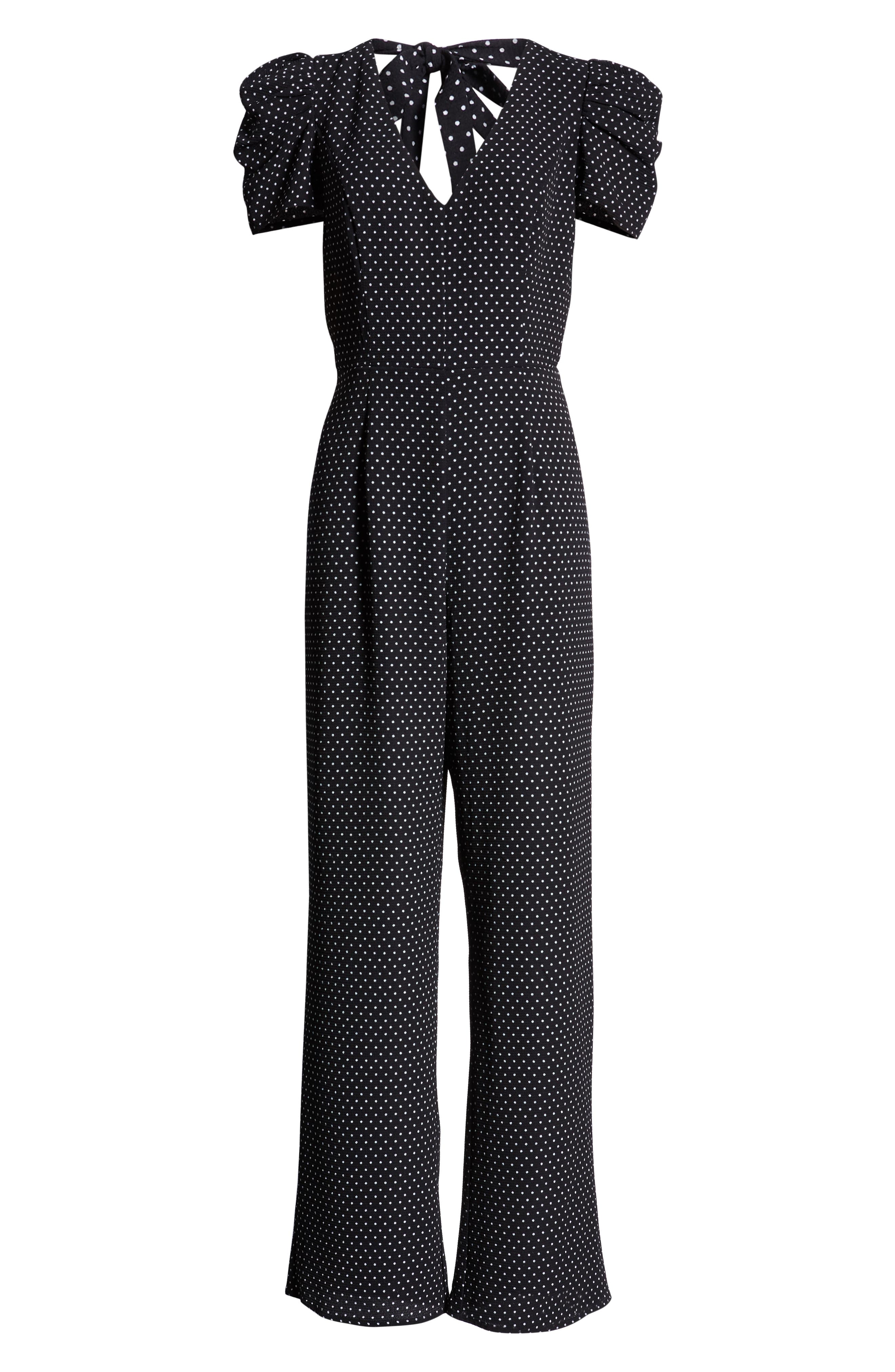 ROW A, Puff Sleeve Jumpsuit, Alternate thumbnail 7, color, 410