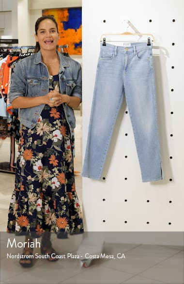 Le Sylvie Slit Hem Crop Slim Jeans, sales video thumbnail