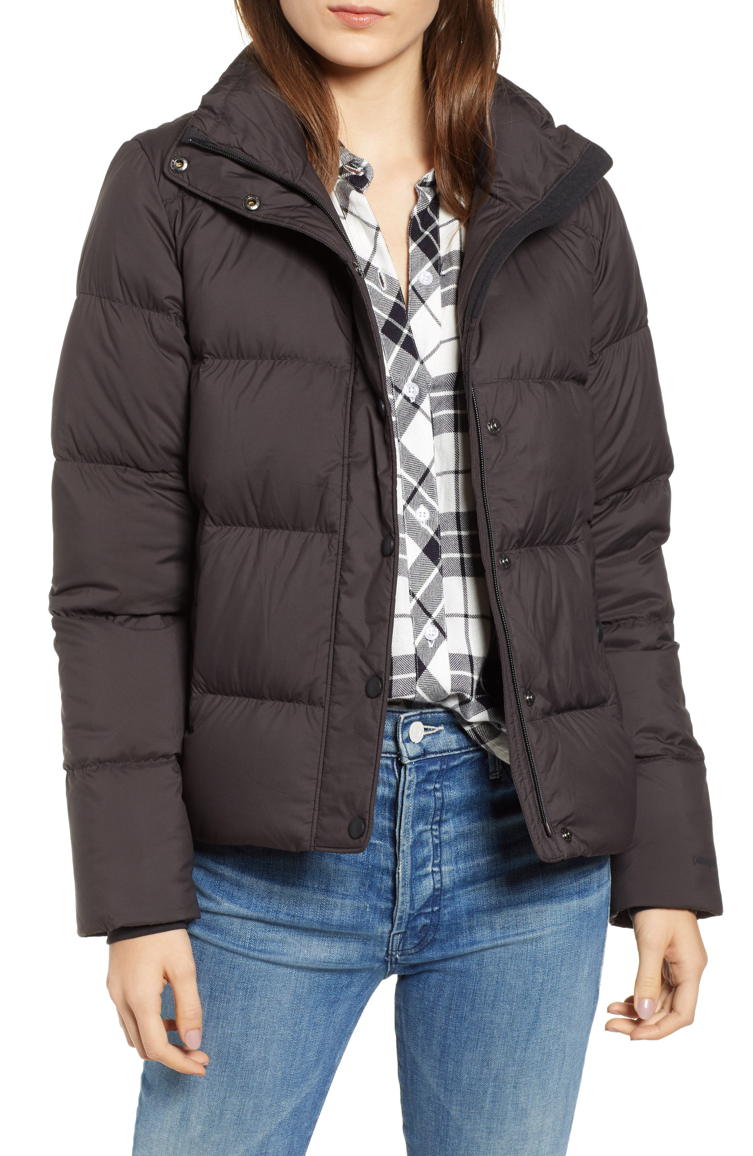 PATAGONIA Silent Water Repellent 700-Fill Power Down Insulated Jacket, Main, color, BLACK