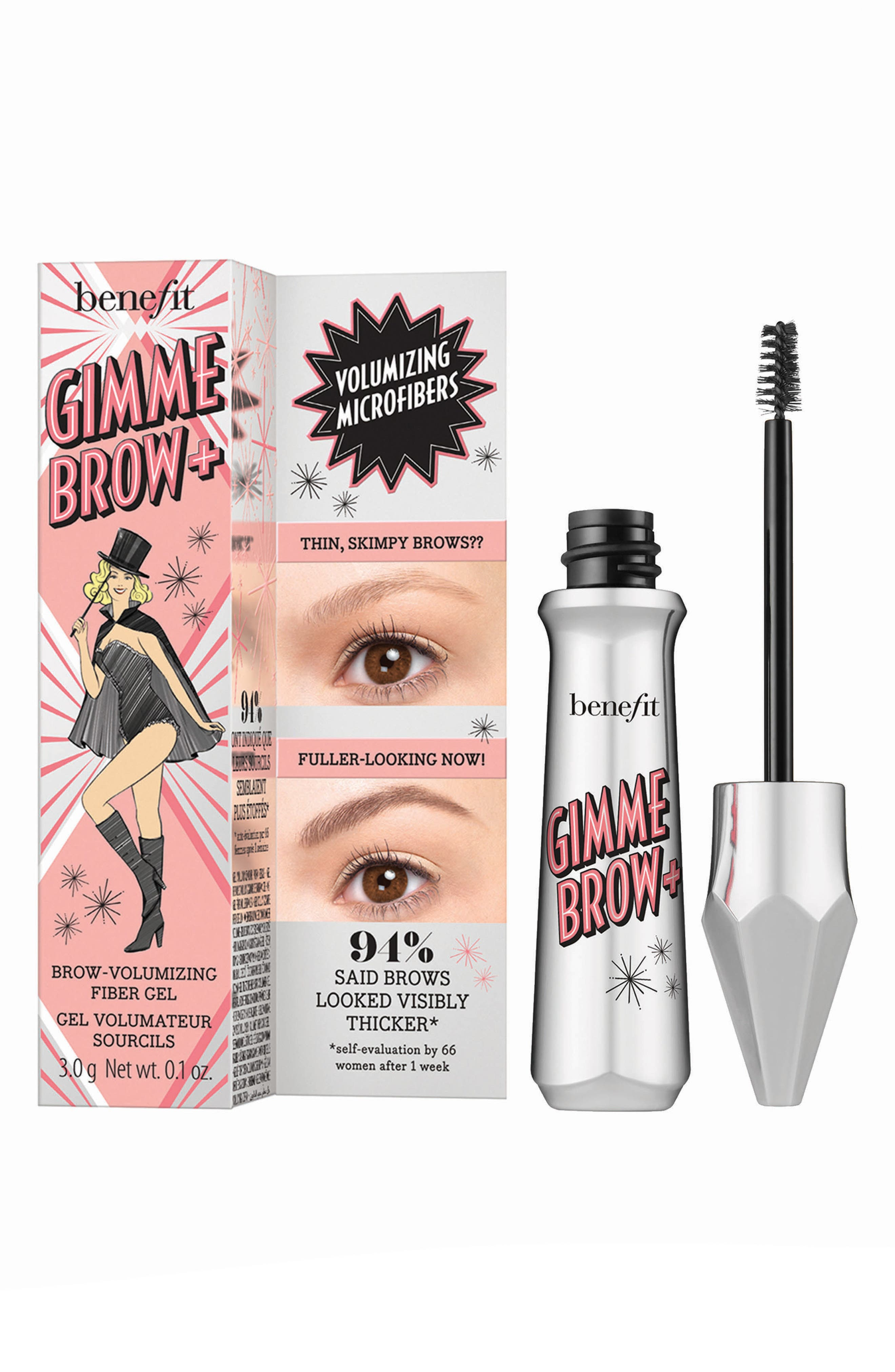BENEFIT COSMETICS, Benefit Gimme Brow+ Volumizing Eyebrow Gel, Alternate thumbnail 5, color, 01 LIGHT/COOL LIGHT BLONDE