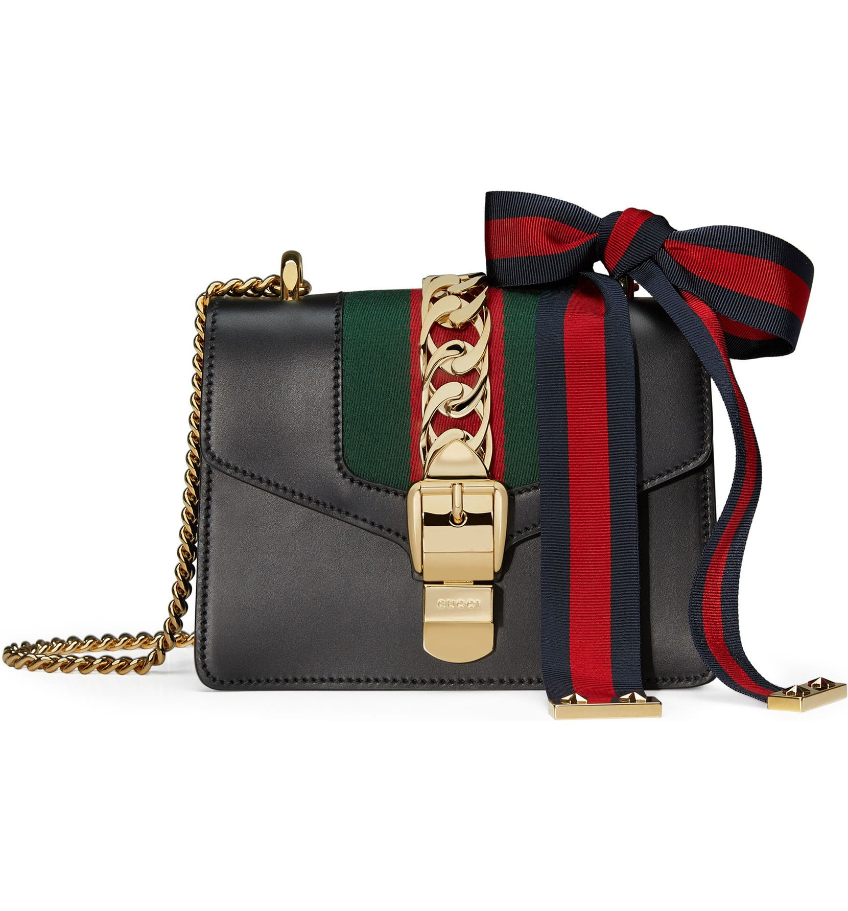 24e595258d6 Gucci Mini Sylvie Leather Shoulder Bag