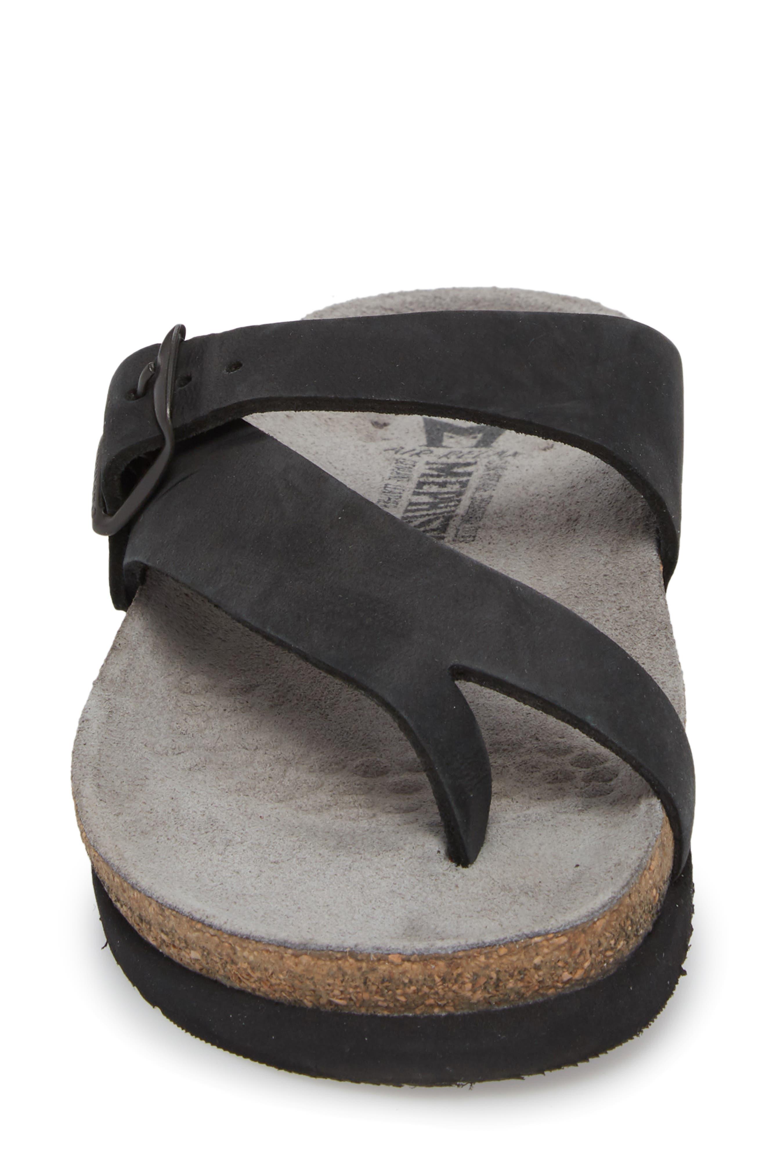 MEPHISTO, 'Helen' Sandal, Alternate thumbnail 4, color, BLACK NUBUCK