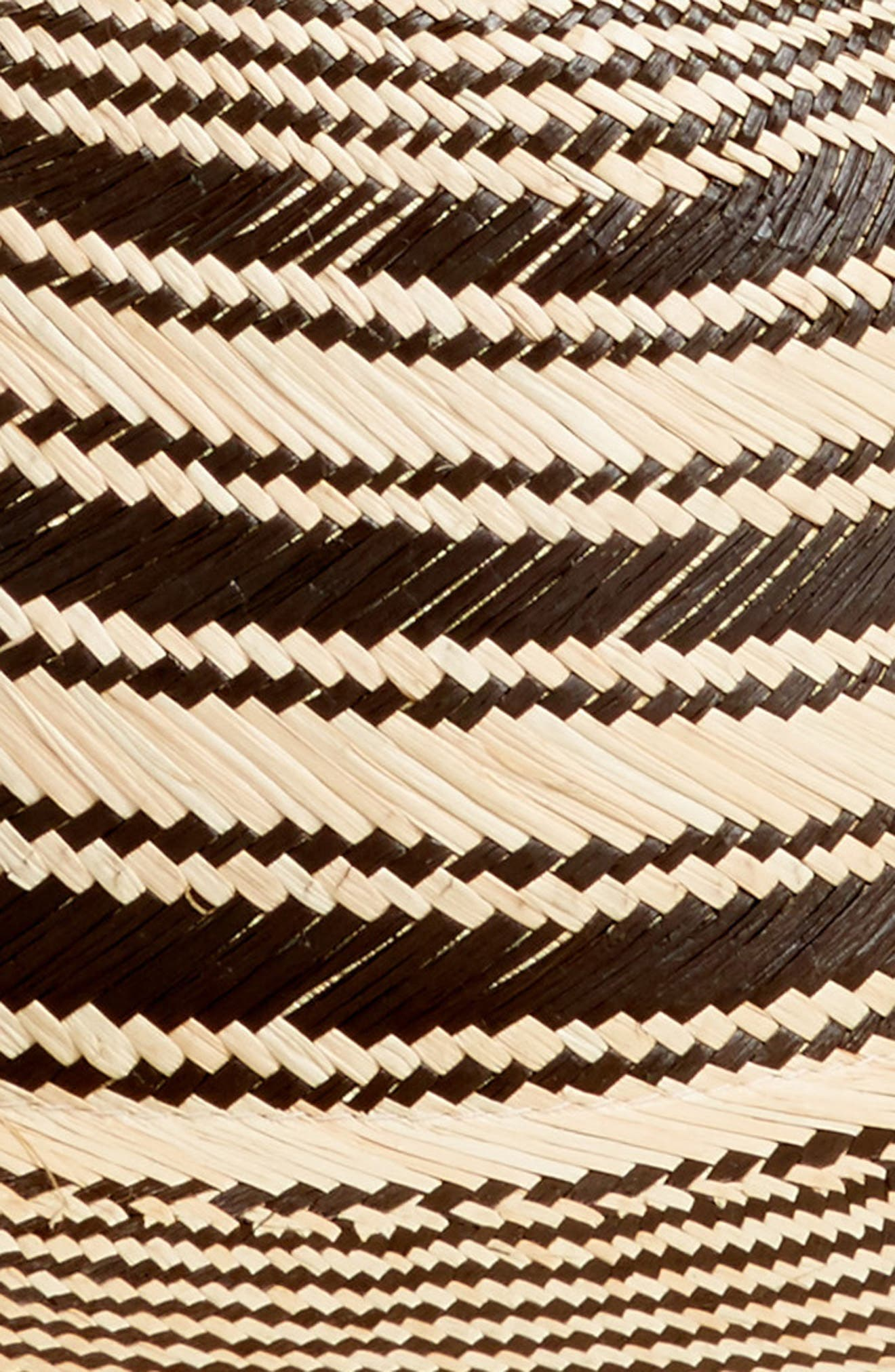 RAG & BONE, Stripe Panama Hat, Alternate thumbnail 2, color, 001