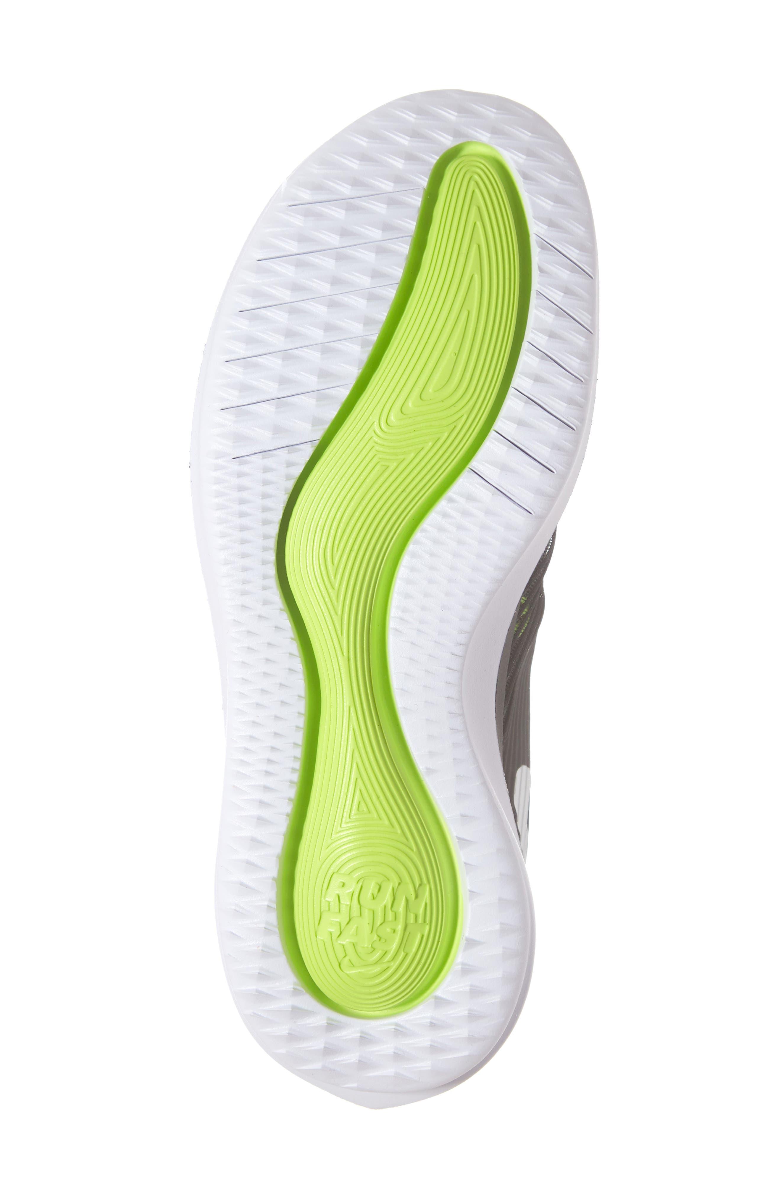 NIKE, Future Speed Running Shoe, Alternate thumbnail 6, color, BLACK/ CHROME-WHITE-VOLT