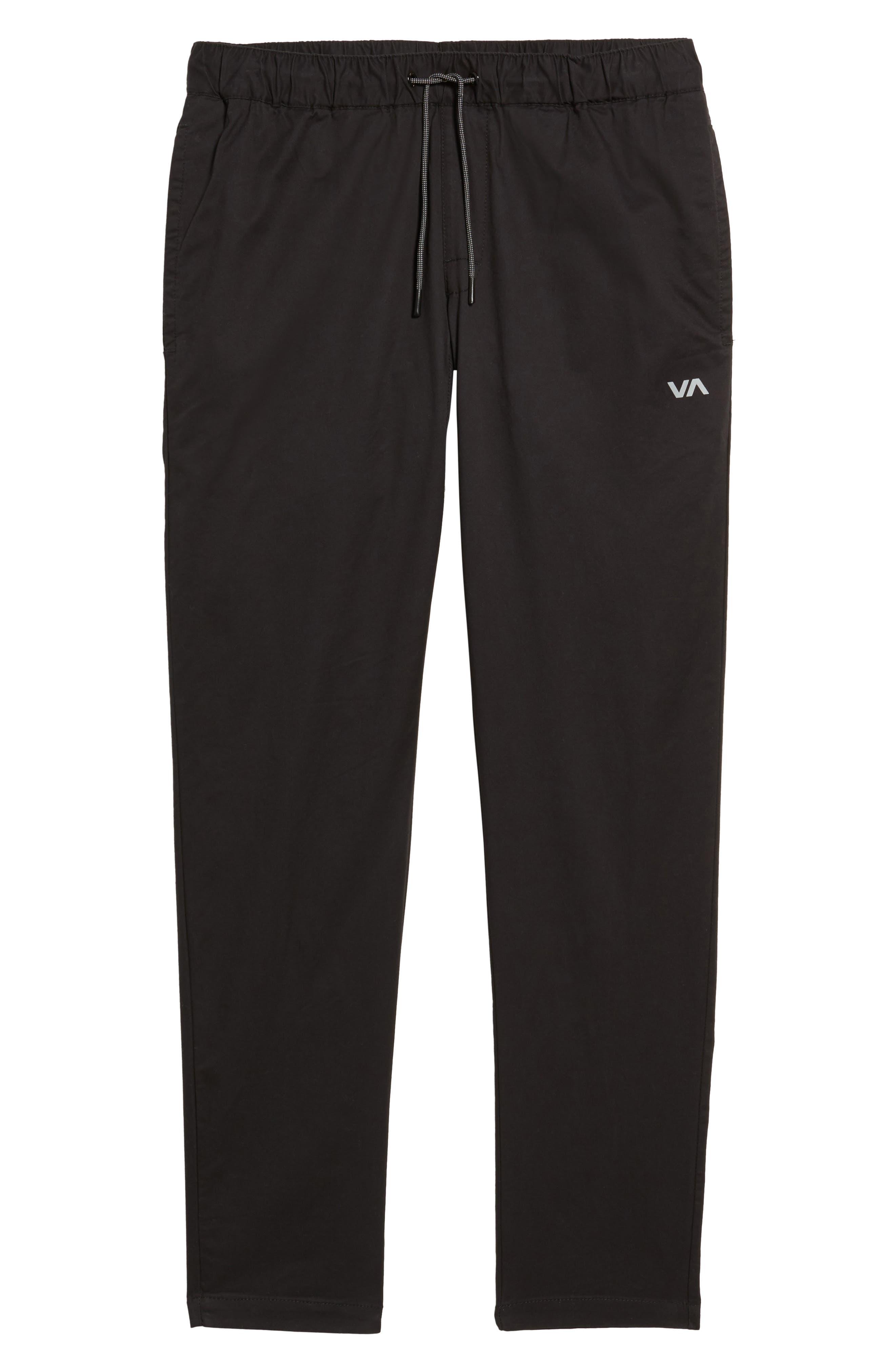 RVCA, Spectrum Sport Pants, Alternate thumbnail 7, color, 001