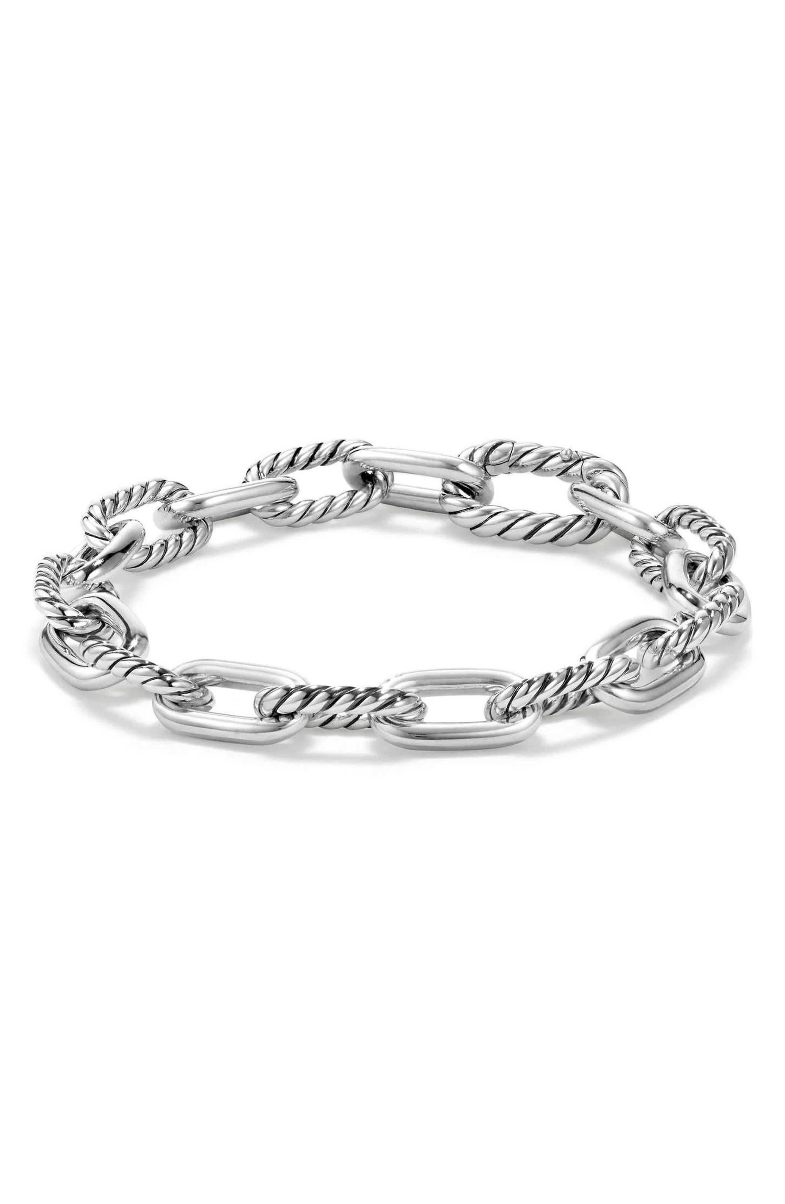 DAVID YURMAN, DY Madison Chain Small Bracelet, Main thumbnail 1, color, 040