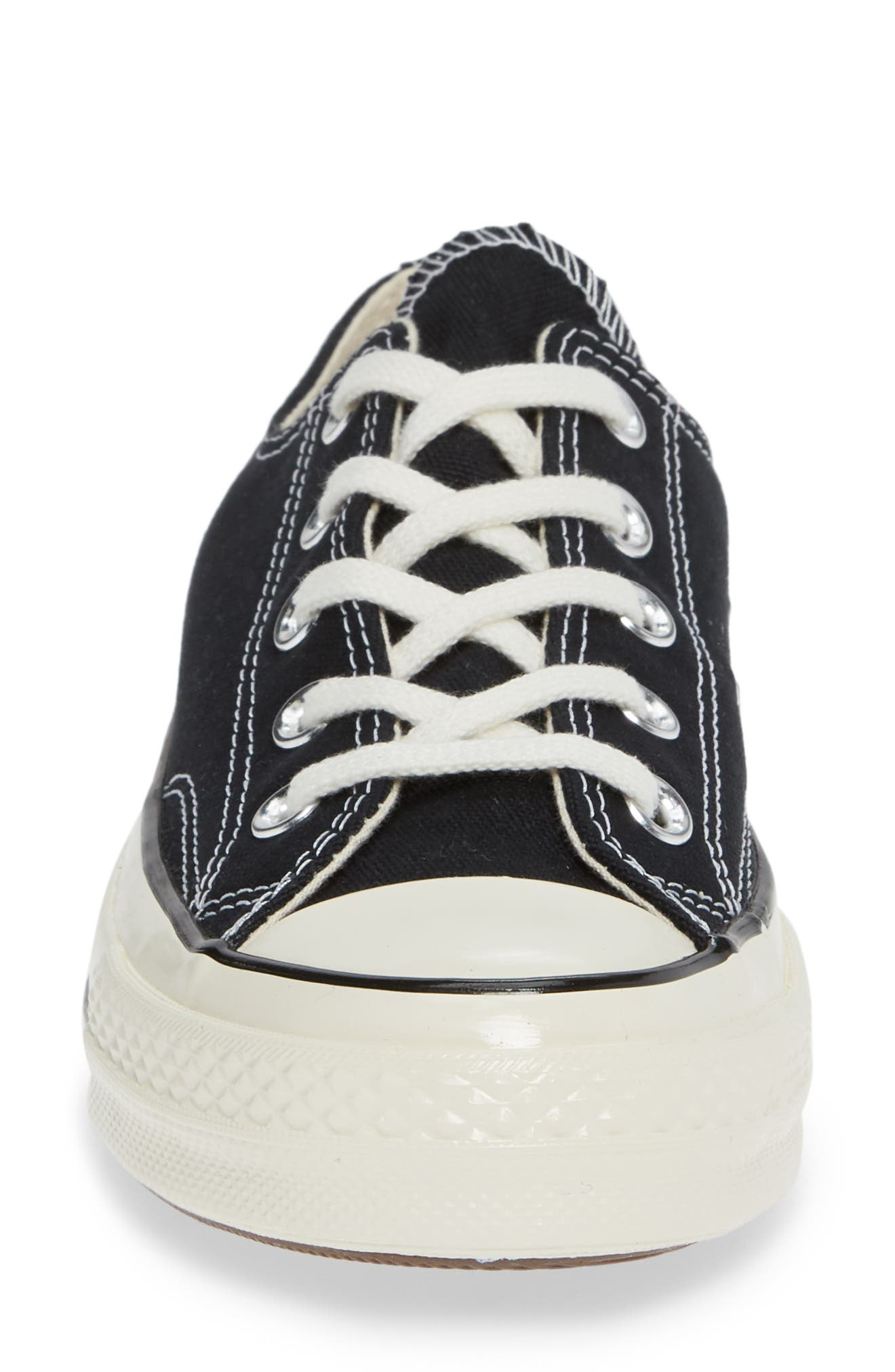 CONVERSE, Chuck Taylor<sup>®</sup> All Star<sup>®</sup> Chuck 70 Ox Sneaker, Alternate thumbnail 4, color, BLACK/ BLACK/ EGRET