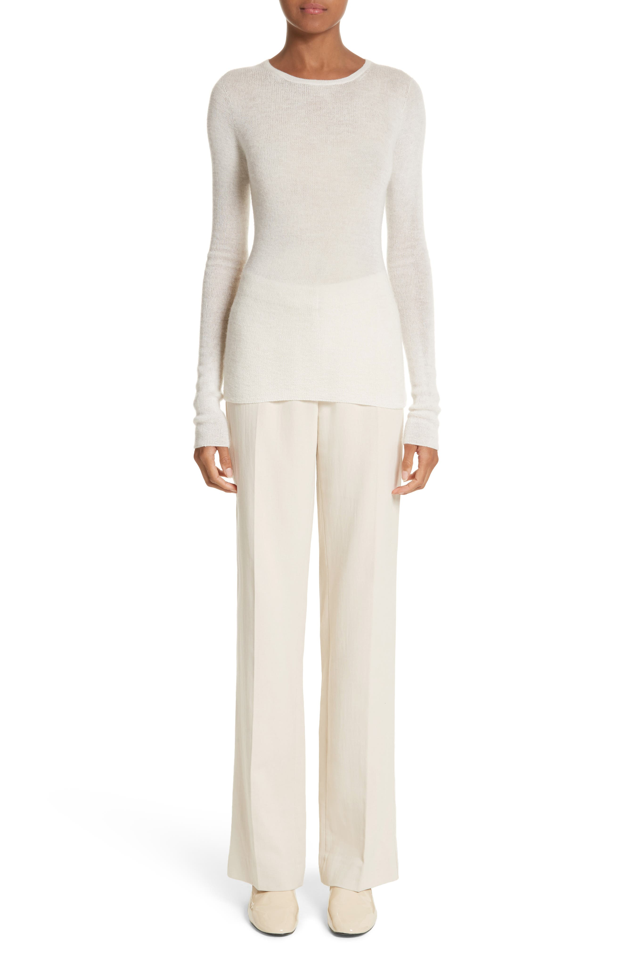 MAX MARA, Cursore Cotton Wide Leg Pants, Alternate thumbnail 7, color, 900