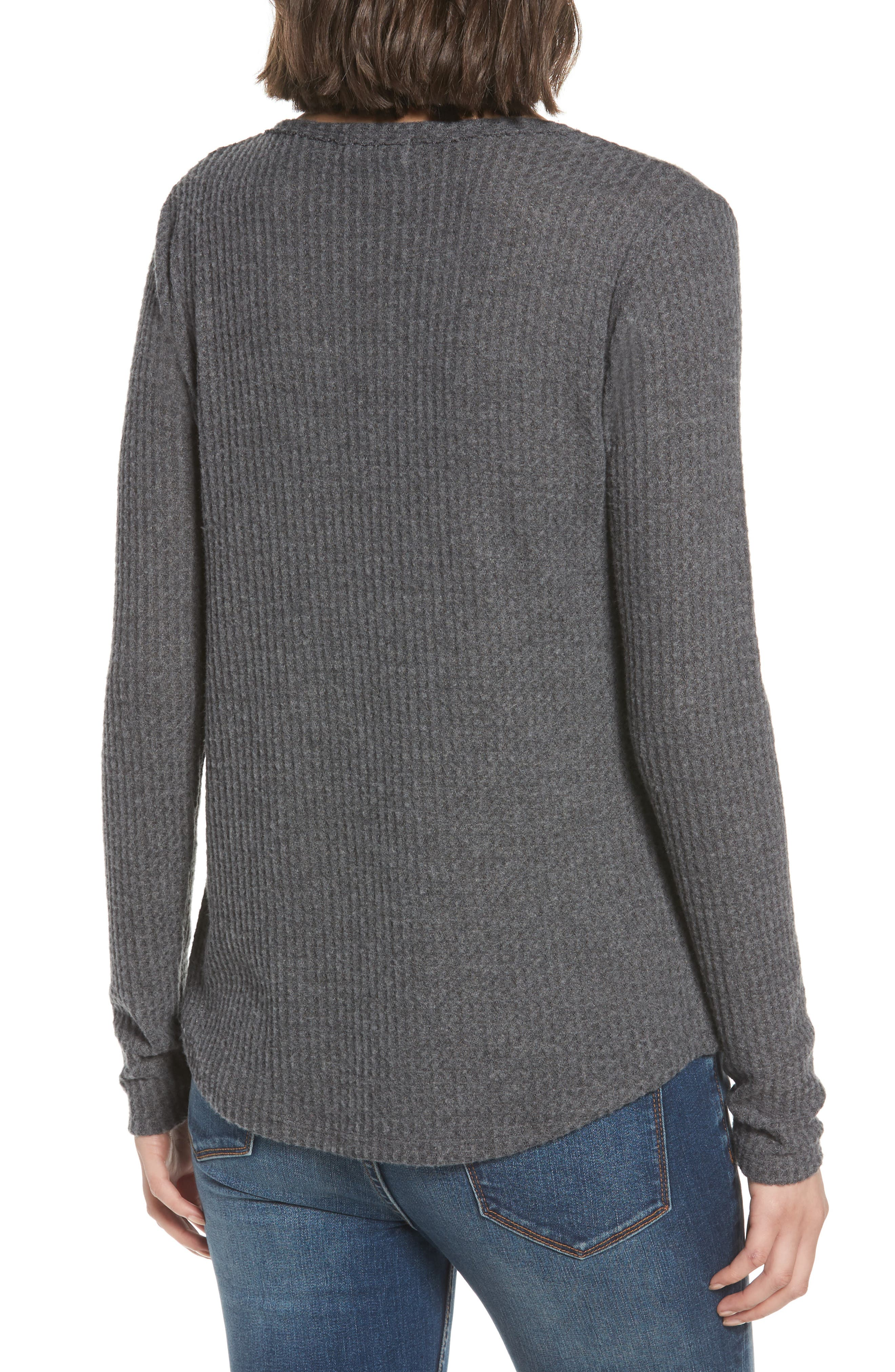 SOCIALITE, Thermal Henley Top, Alternate thumbnail 2, color, 034