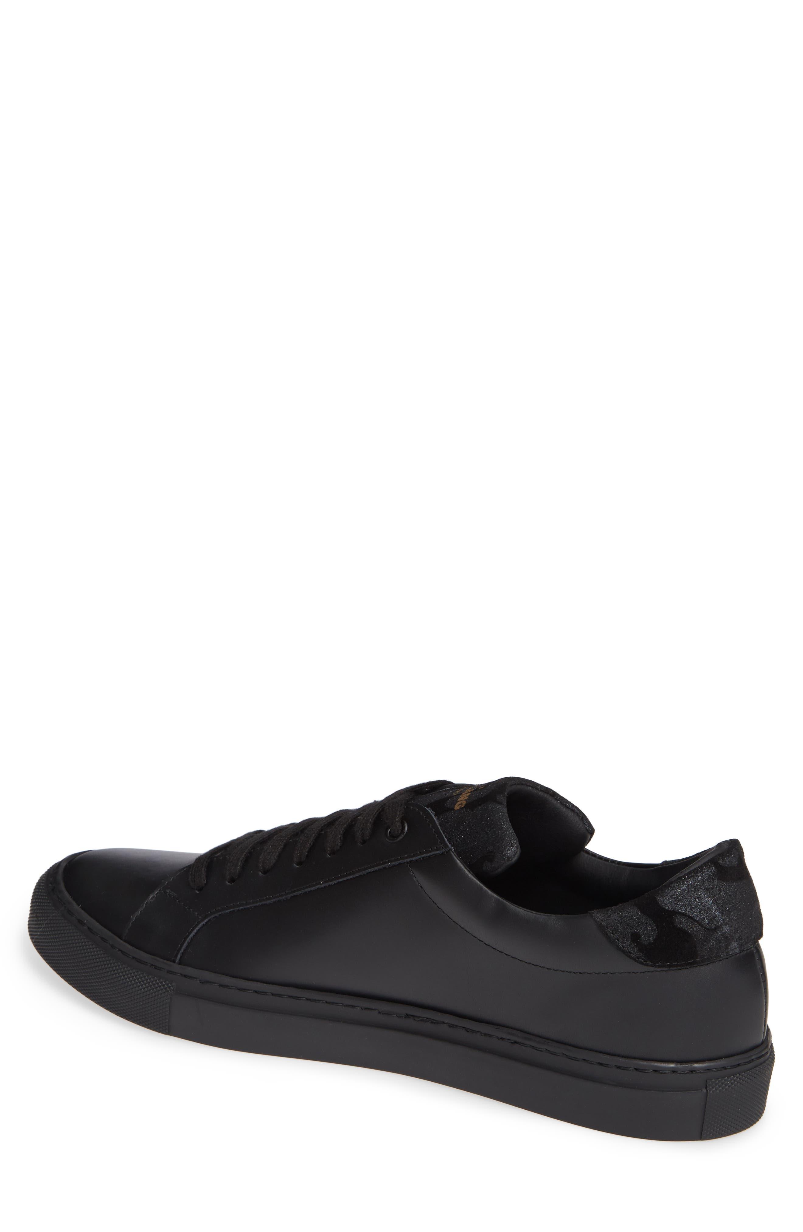 JARED LANG, Rome Sneaker, Alternate thumbnail 2, color, BLACK