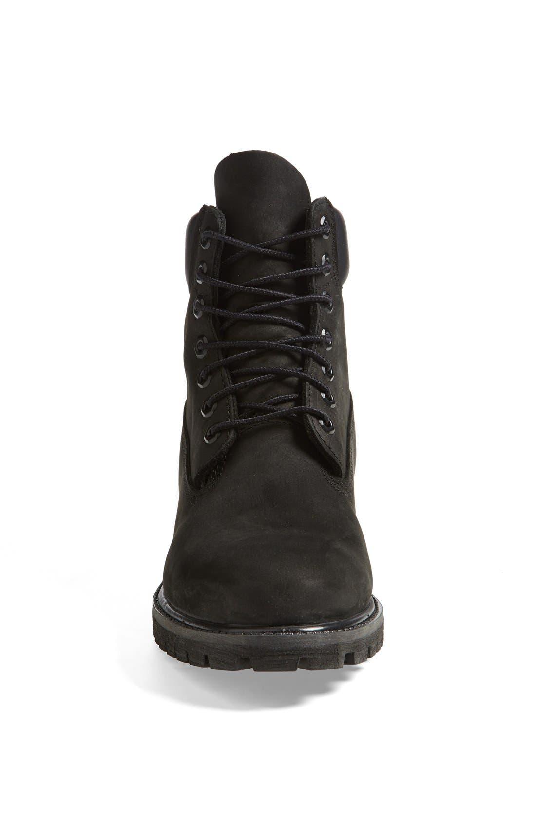 TIMBERLAND, Six Inch Classic Waterproof Boots - Premium Waterproof Boot, Alternate thumbnail 3, color, BLACK