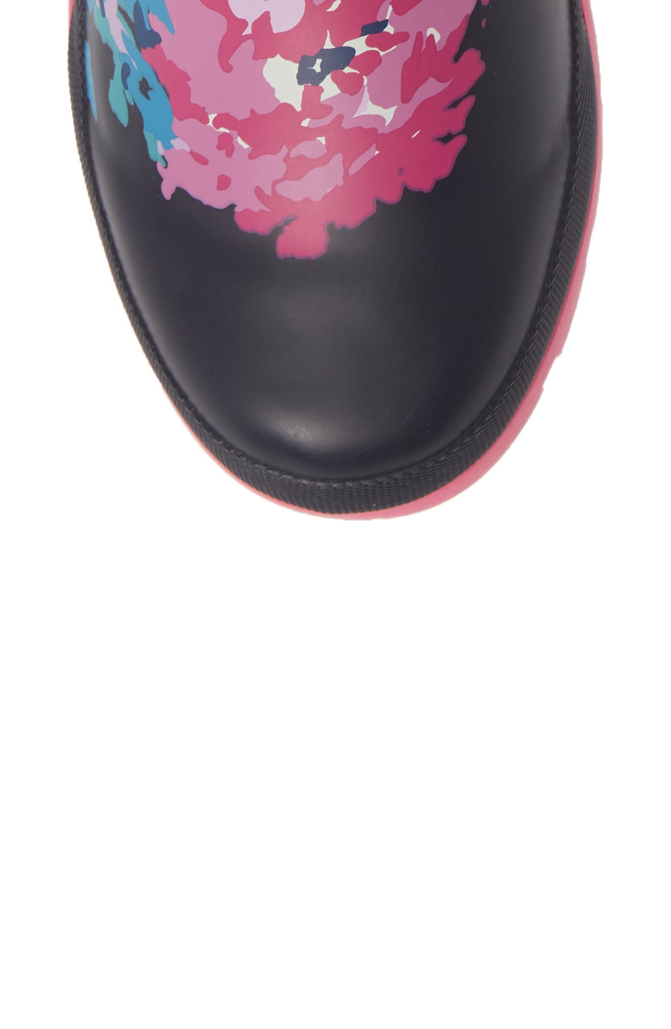 JOULES, 'Molly' Rain Boot, Alternate thumbnail 5, color, NAVY ALL OVER FLORAL