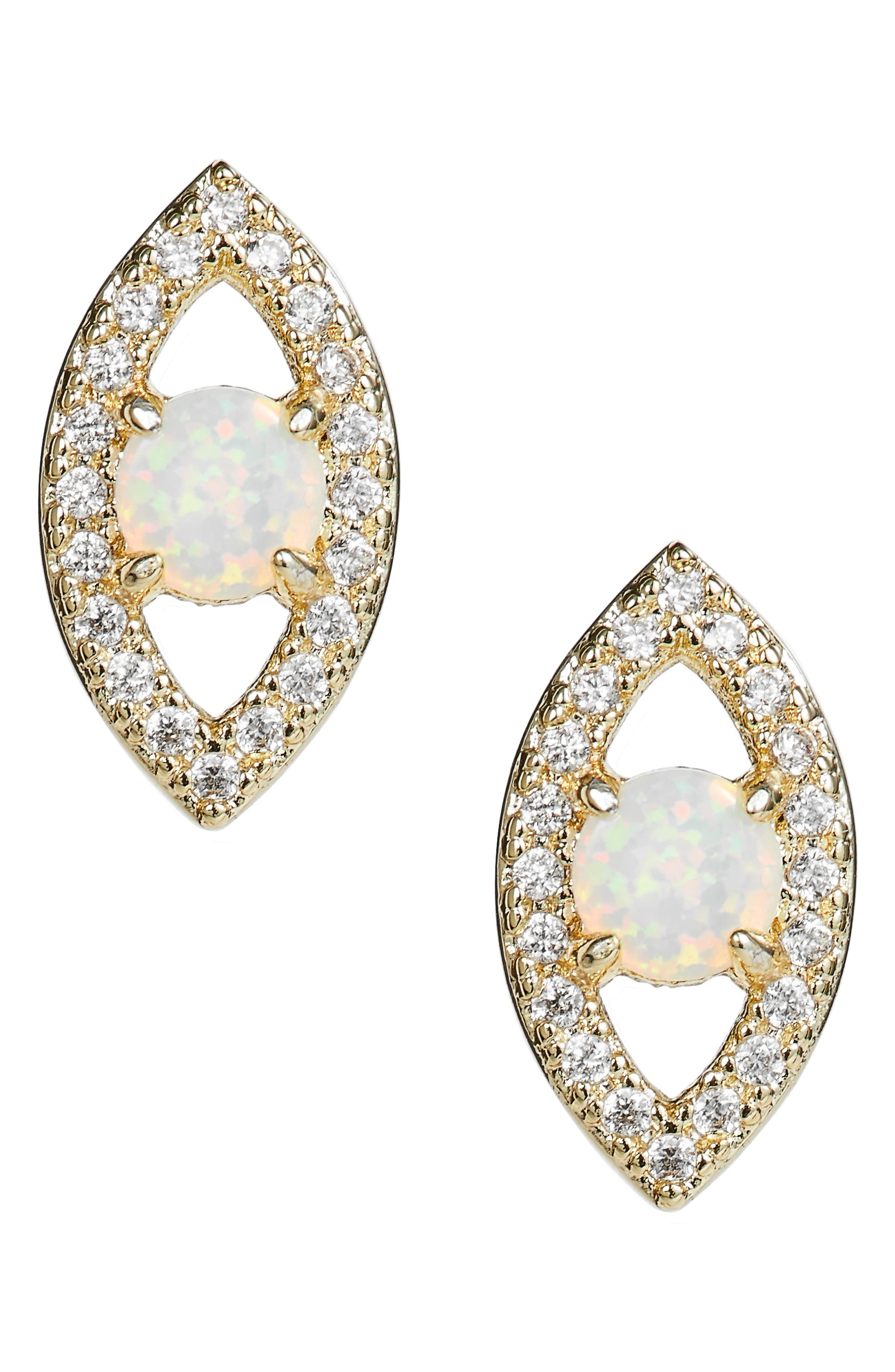 MELINDA MARIA, Evil Eye Stud Earrings, Main thumbnail 1, color, 710