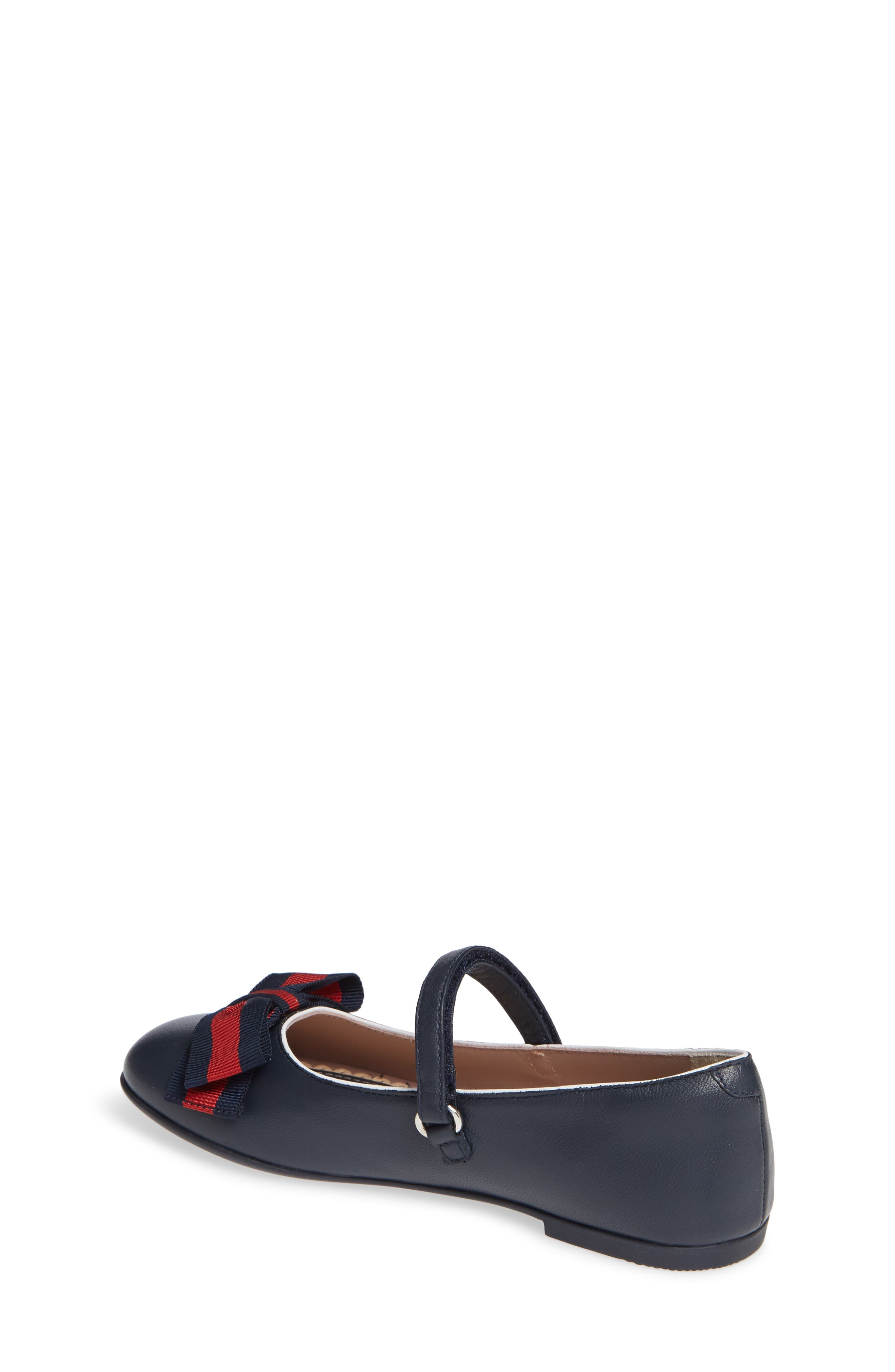 GUCCI, Cindy Mary Jane Flat, Alternate thumbnail 2, color, BLUE/ GREAT WHITE/ RED