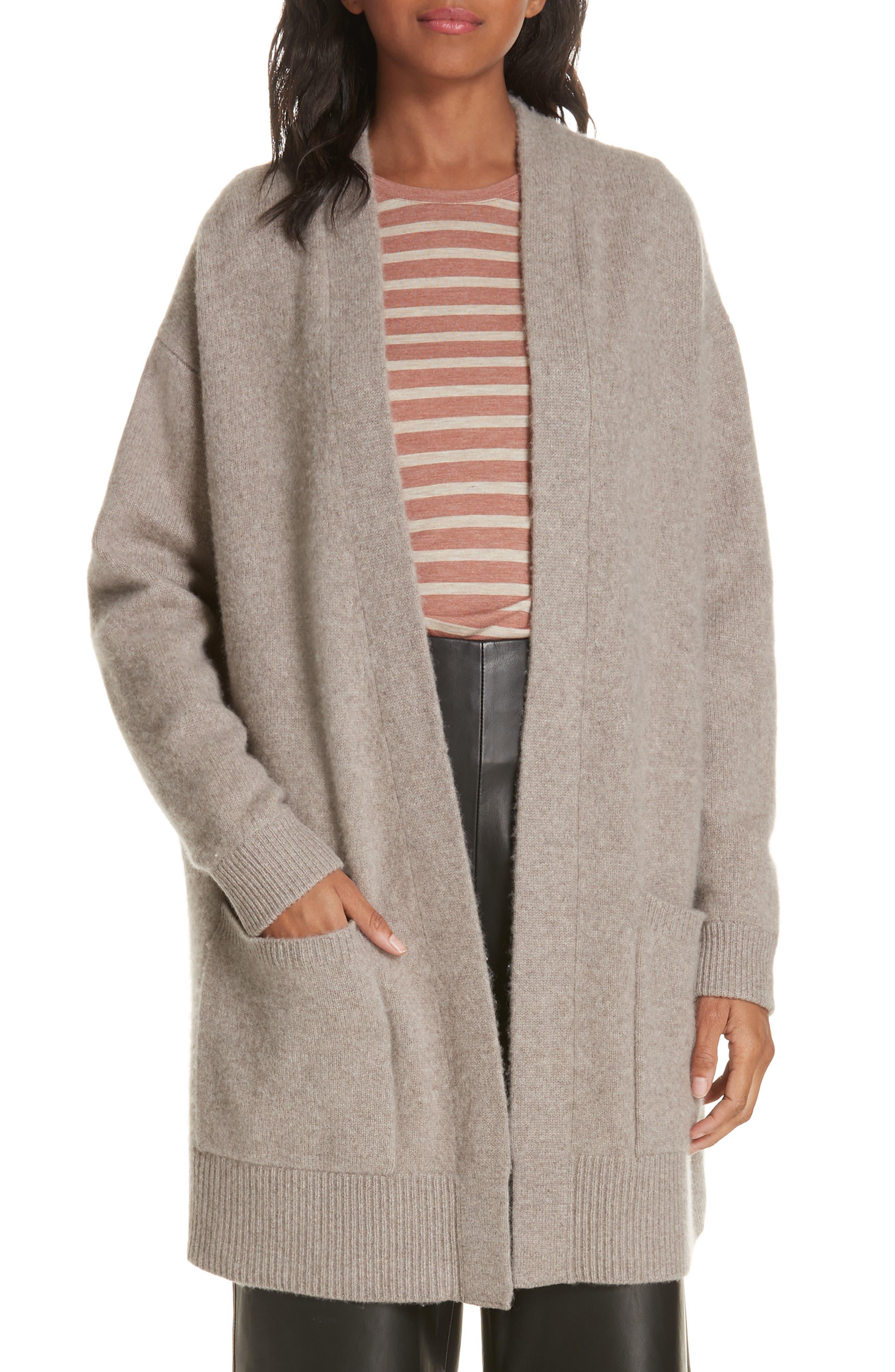 VINCE Patch Pocket Cashmere Cardigan, Main, color, 201