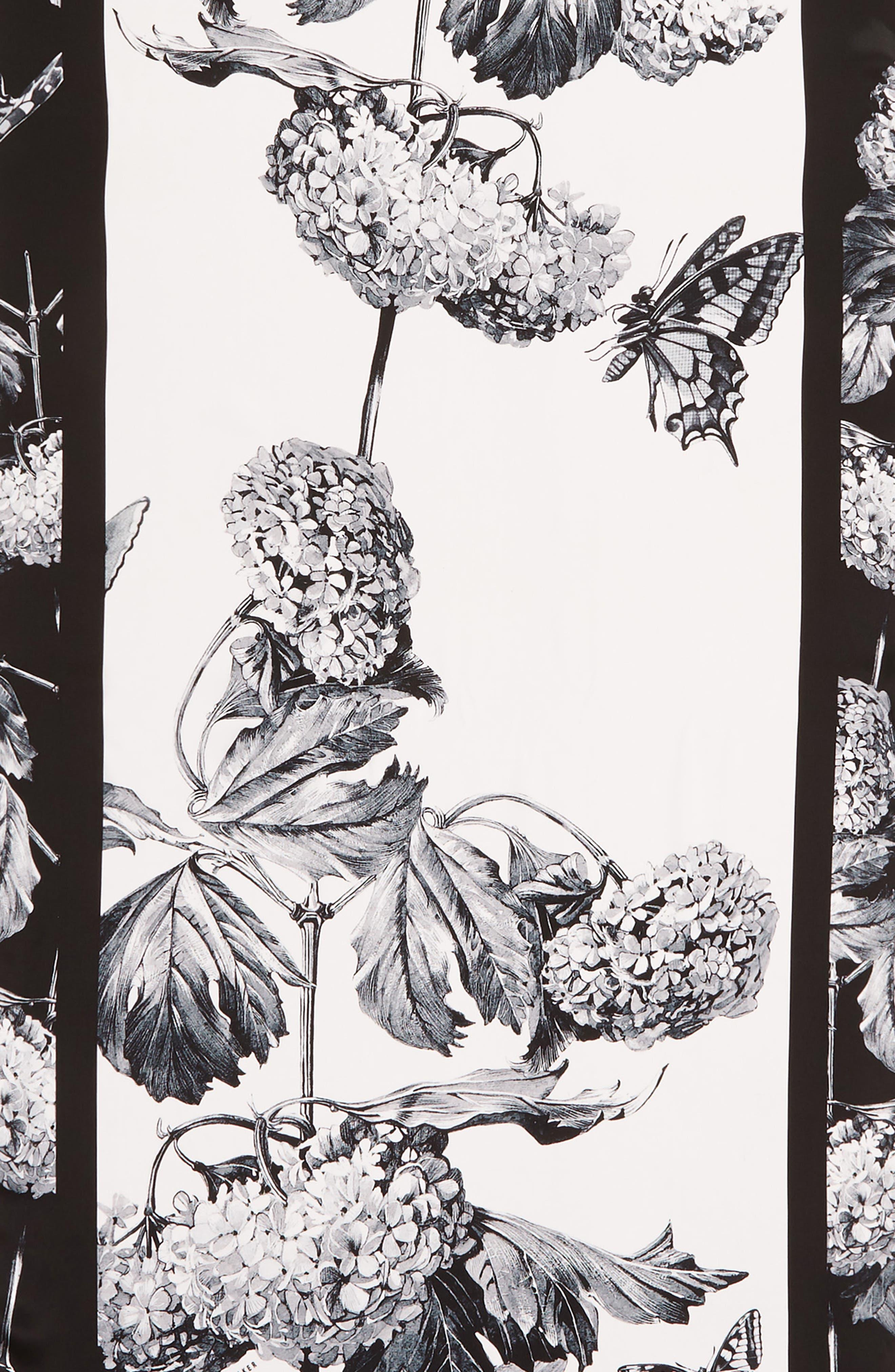 TED BAKER LONDON, Narrnia Silk Scarf, Alternate thumbnail 4, color, 100