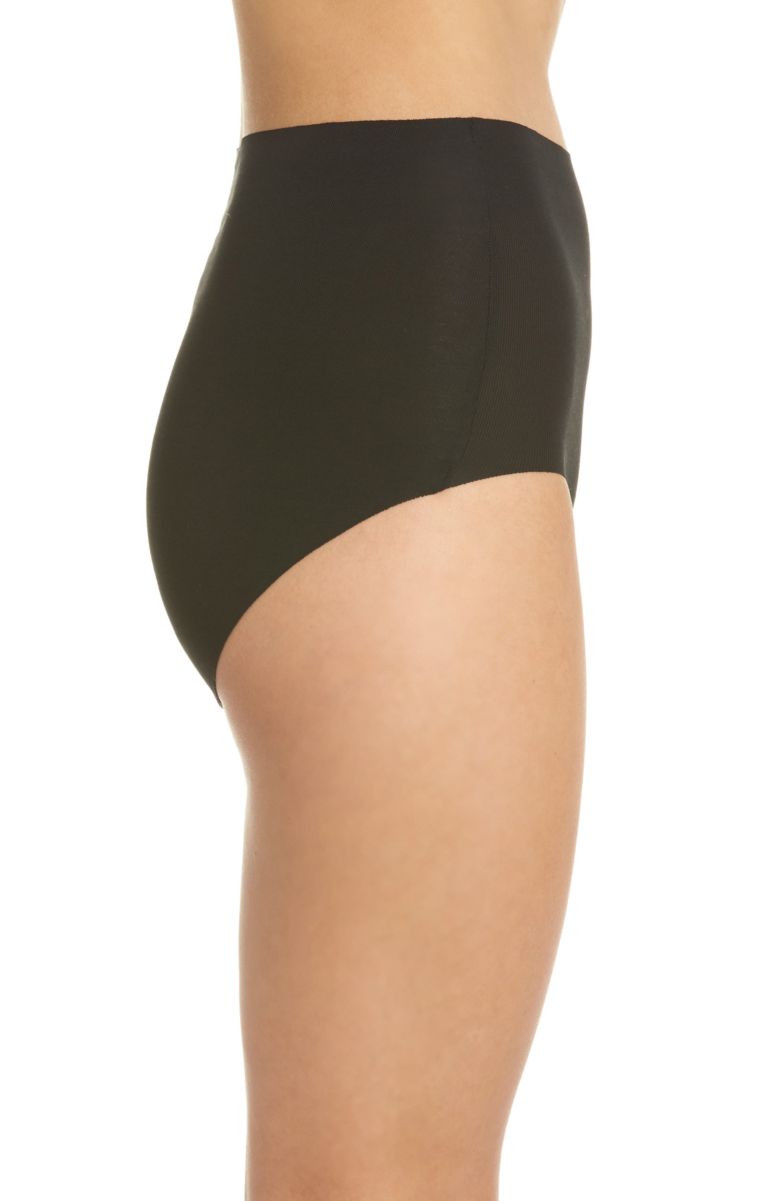 WACOAL, Beyond Naked High Waist Briefs, Alternate thumbnail 3, color, BLACK