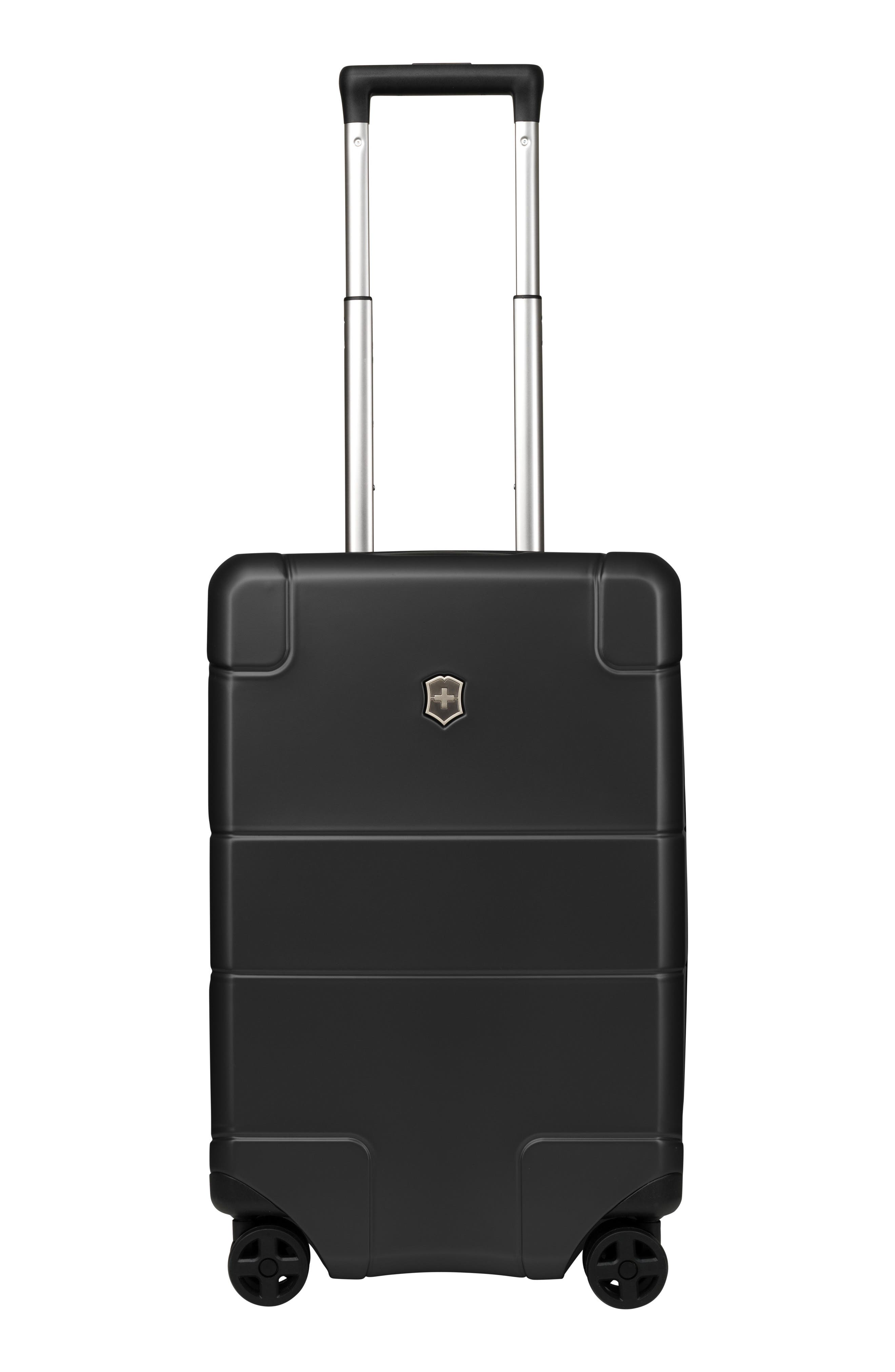 VICTORINOX SWISS ARMY<SUP>®</SUP> Lexicon Frequent Flyer 22-Inch Wheeled Carry-On, Main, color, BLACK