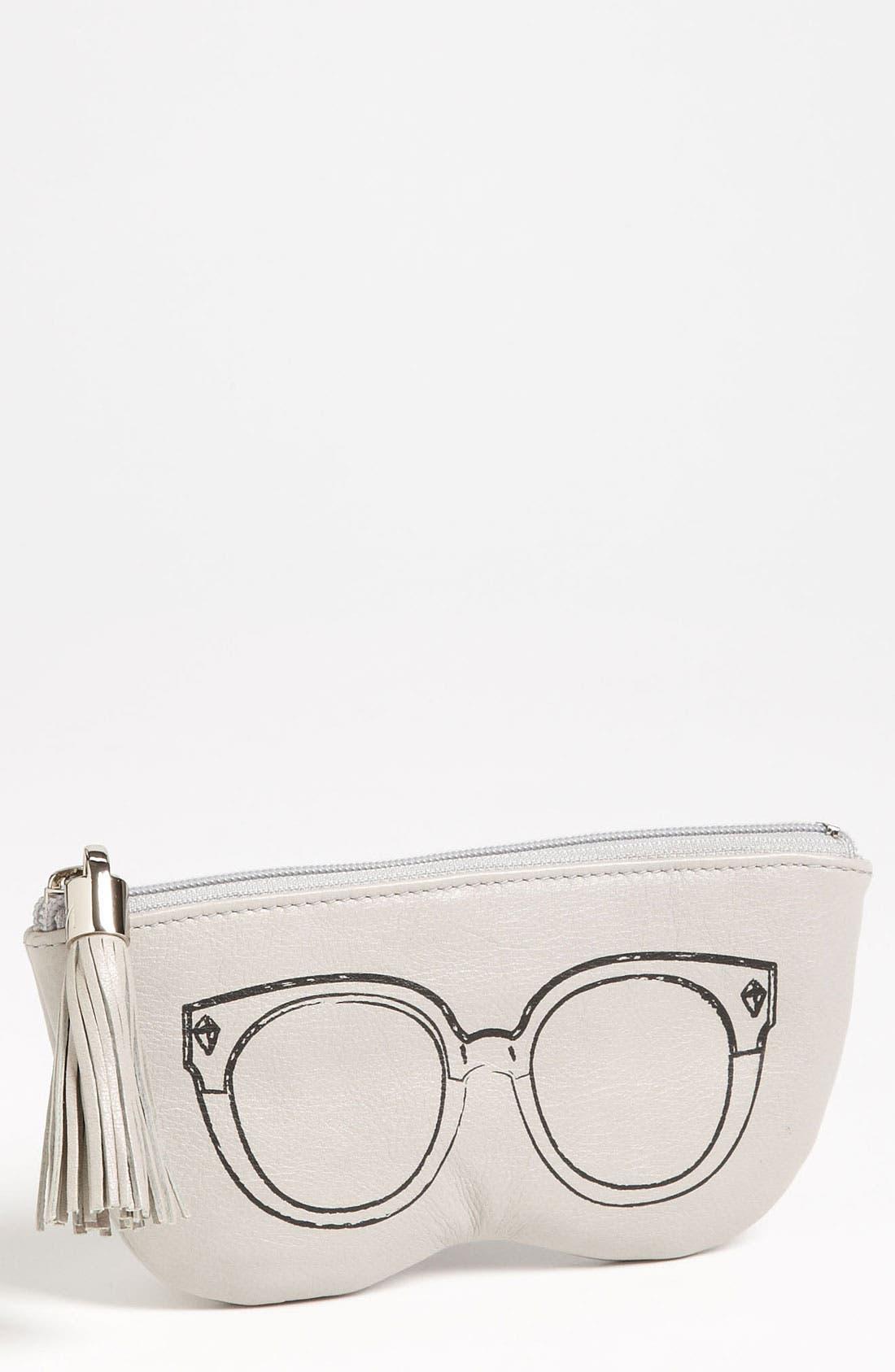 REBECCA MINKOFF, Leather Sunglasses Case, Main thumbnail 1, color, 020