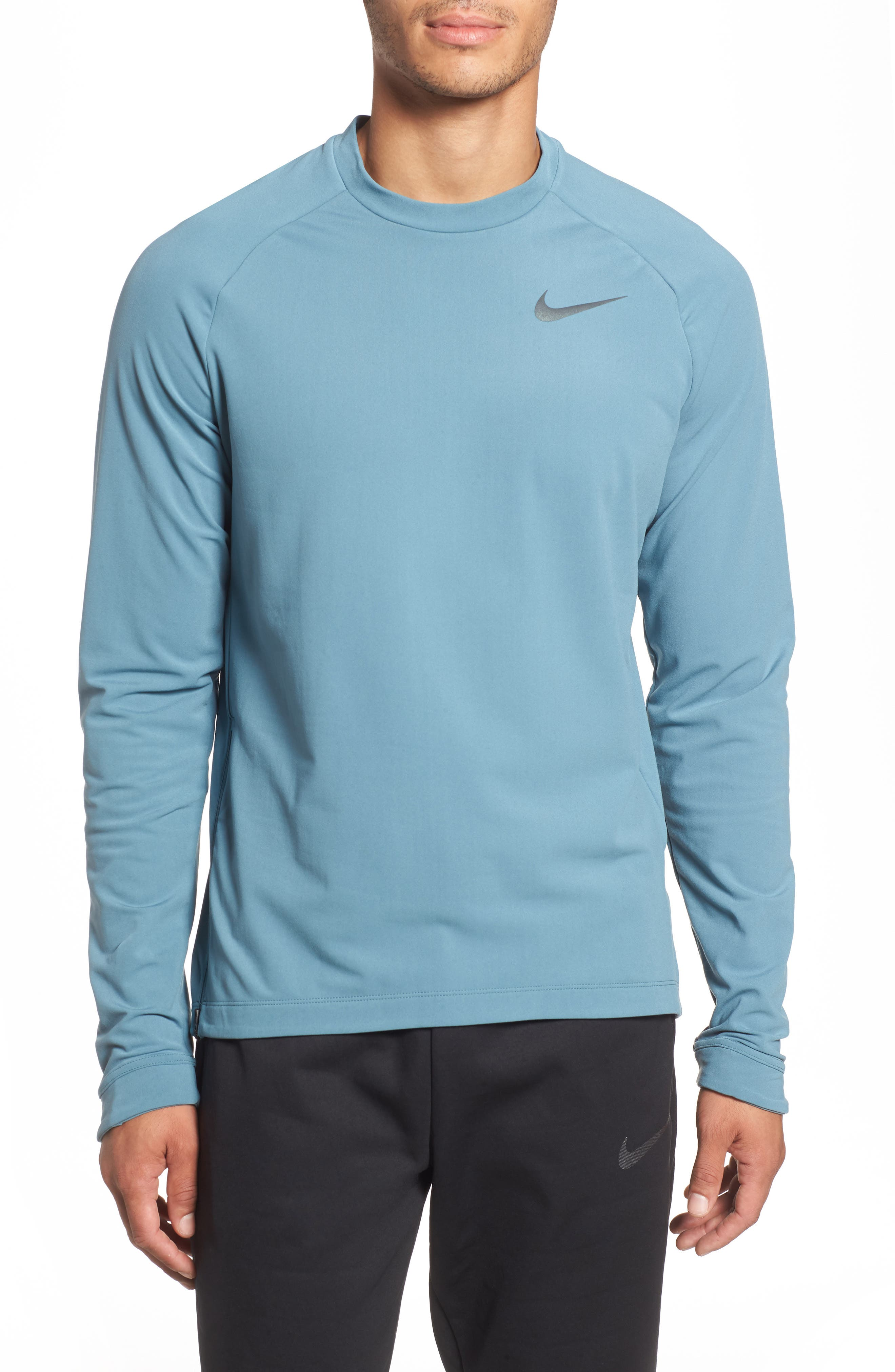 NIKE Thermal Crewneck, Main, color, CELESTIAL TEAL