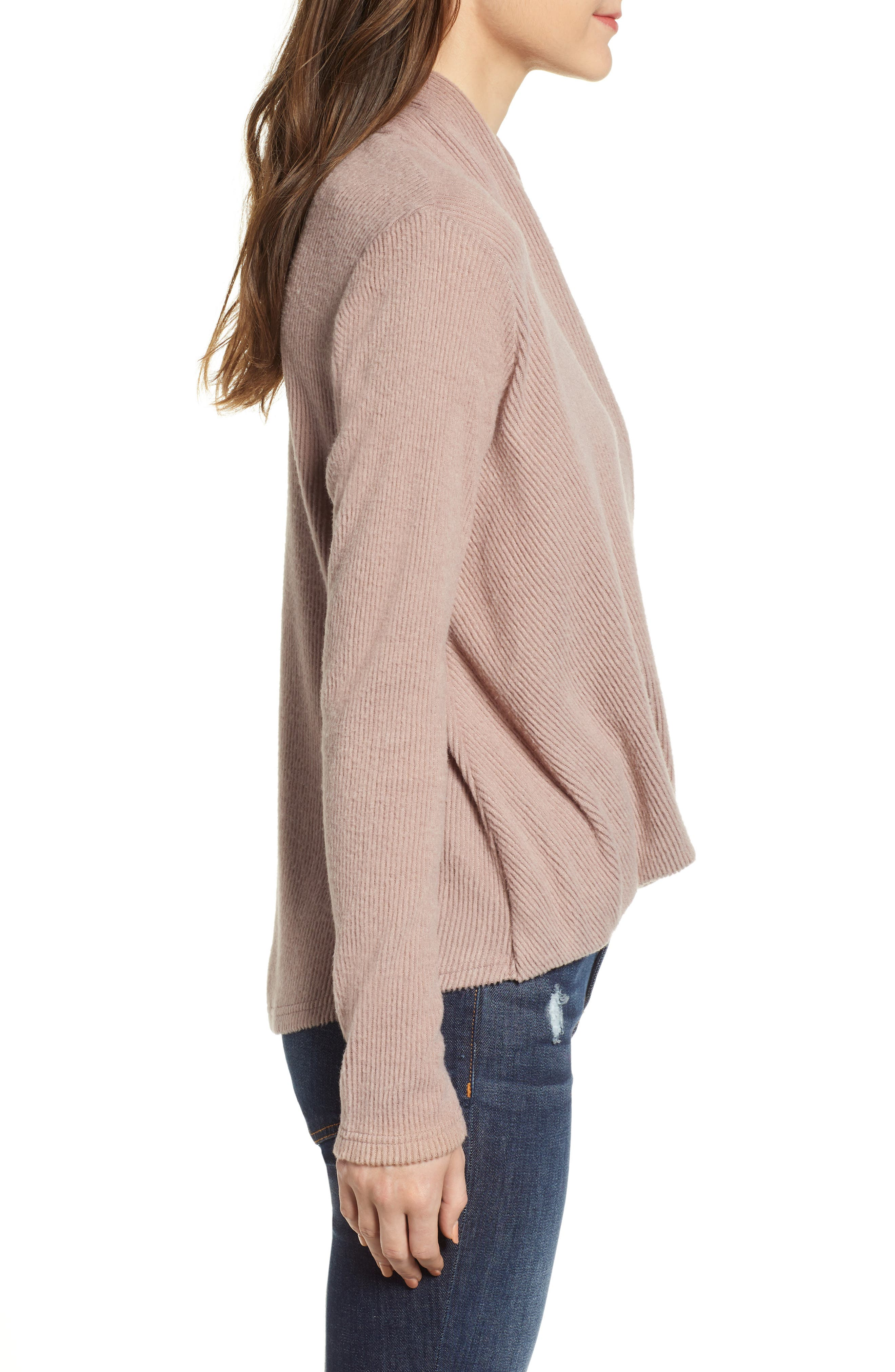 CODEXMODE, Faux Wrap Sweater, Alternate thumbnail 3, color, 250