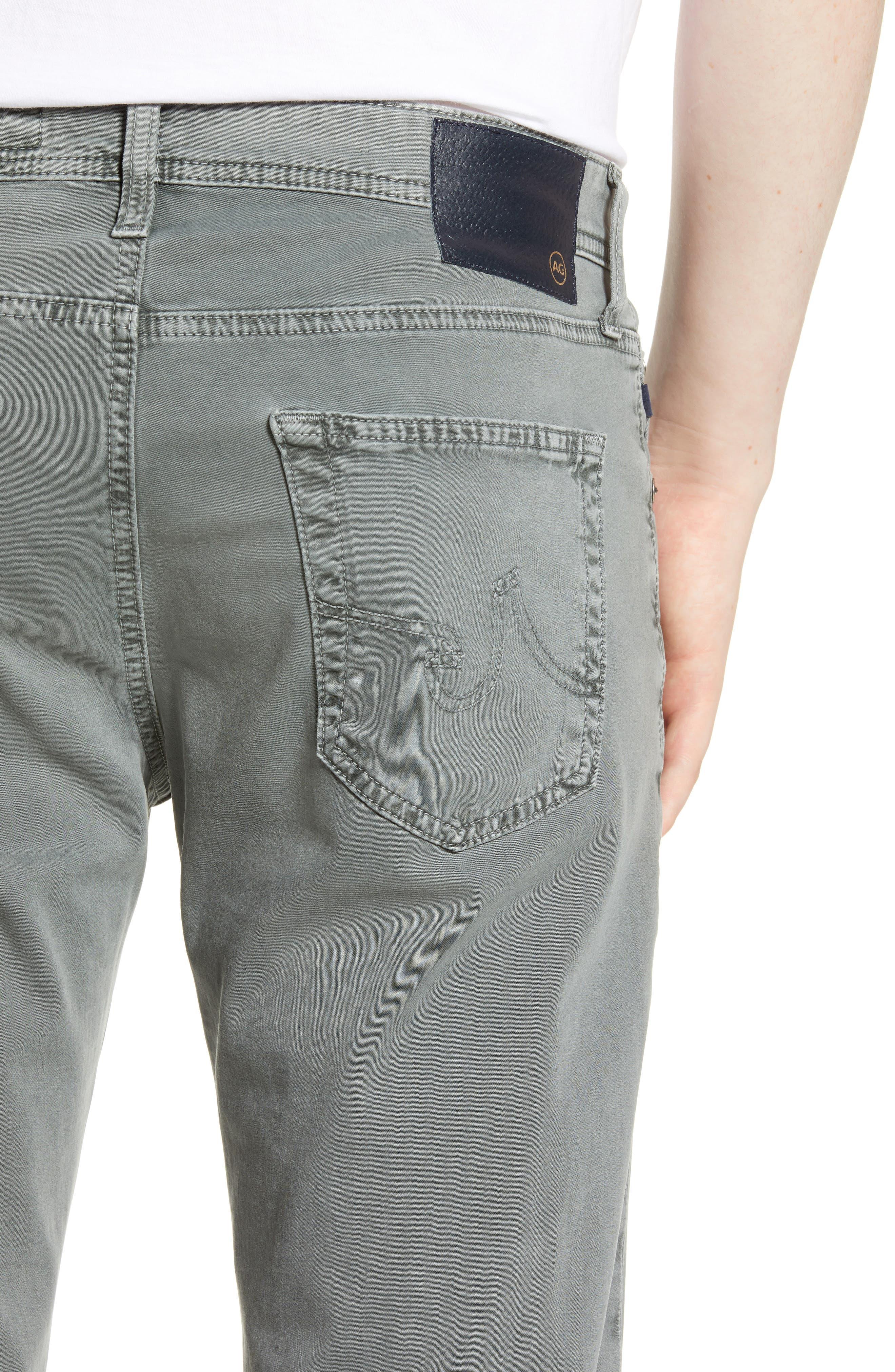 AG, Dylan Slim Fit Pants, Alternate thumbnail 5, color, SULFUR FOG BEACH