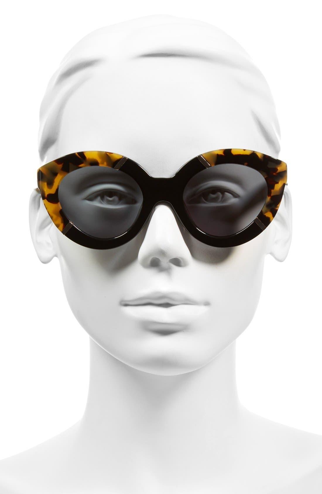 KAREN WALKER, 'Flowerpatch - Arrowed by Karen' 48mm Cat Eye Sunglasses, Alternate thumbnail 2, color, 200