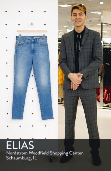 Sophia Raw Hem High Waist Ankle Skinny Jeans, sales video thumbnail