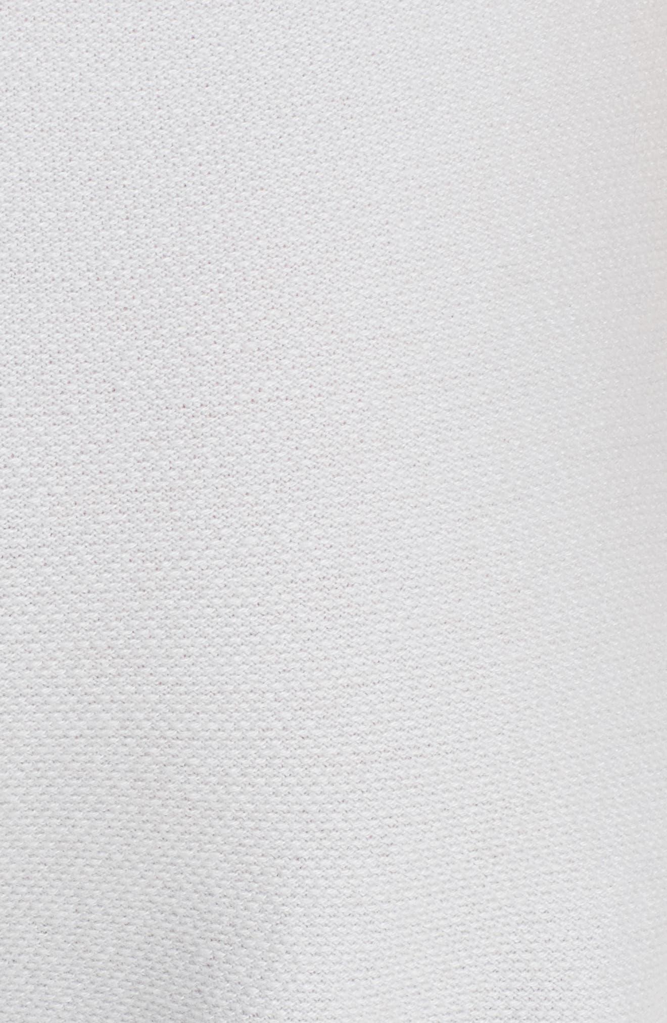 ST. JOHN COLLECTION, Float Jacquard Knit Cashmere Pants, Alternate thumbnail 5, color, EARL GREY