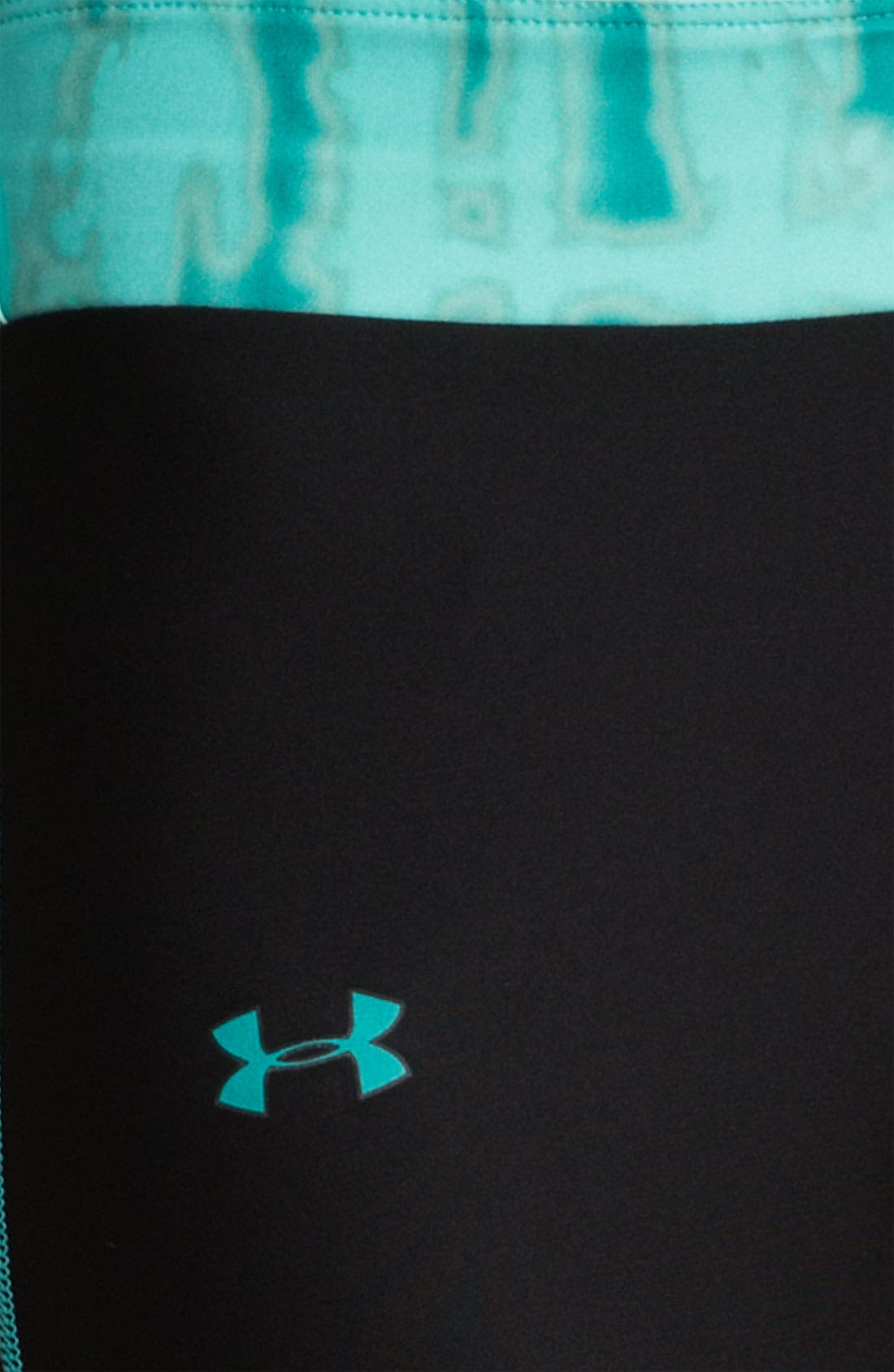 UNDER ARMOUR, ColdGear<sup>®</sup> Print Blocked Tights, Alternate thumbnail 2, color, 010