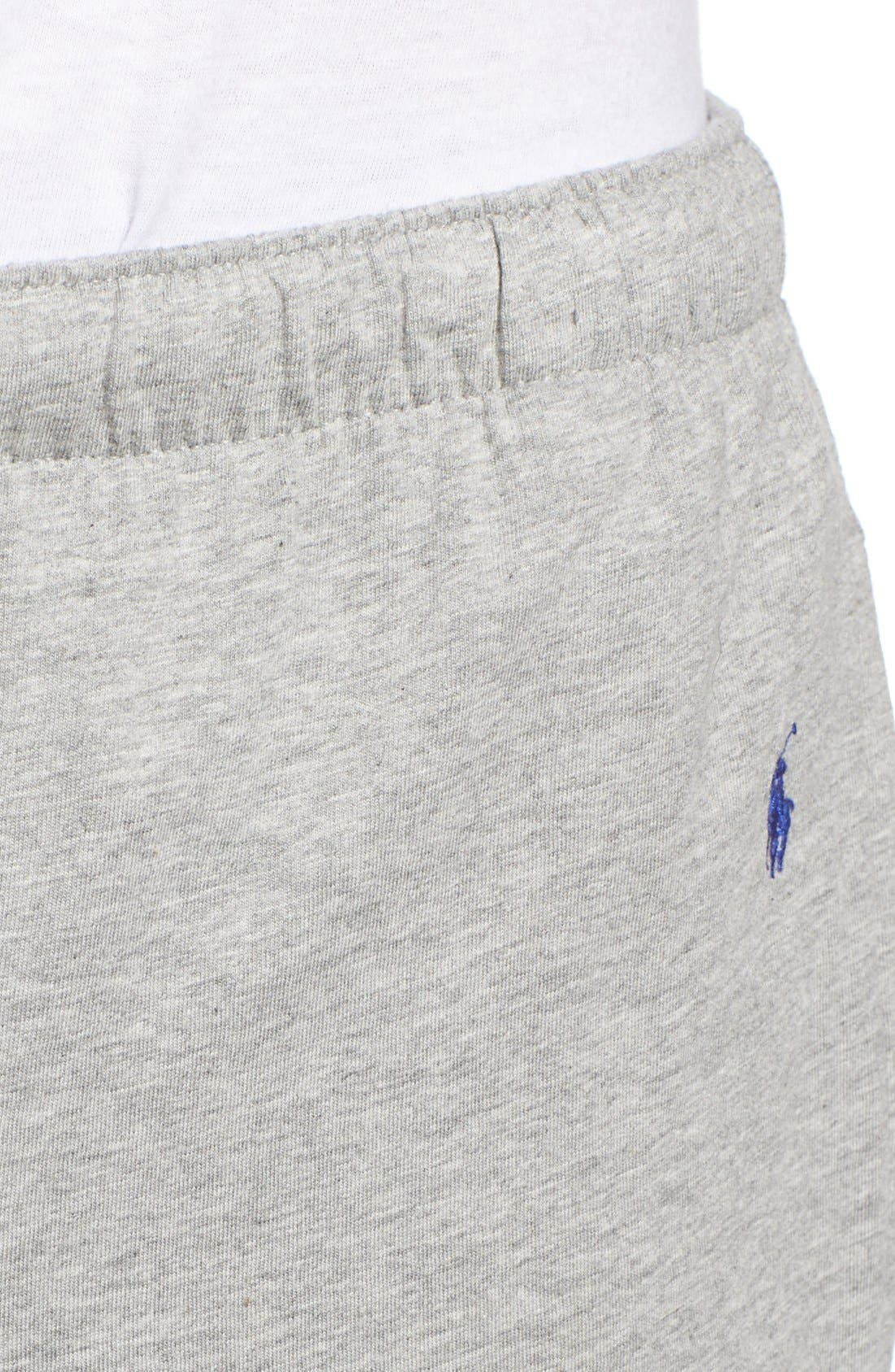 POLO RALPH LAUREN, Relaxed Fit Jogger Pants, Alternate thumbnail 5, color, ANDOVER HEATHER