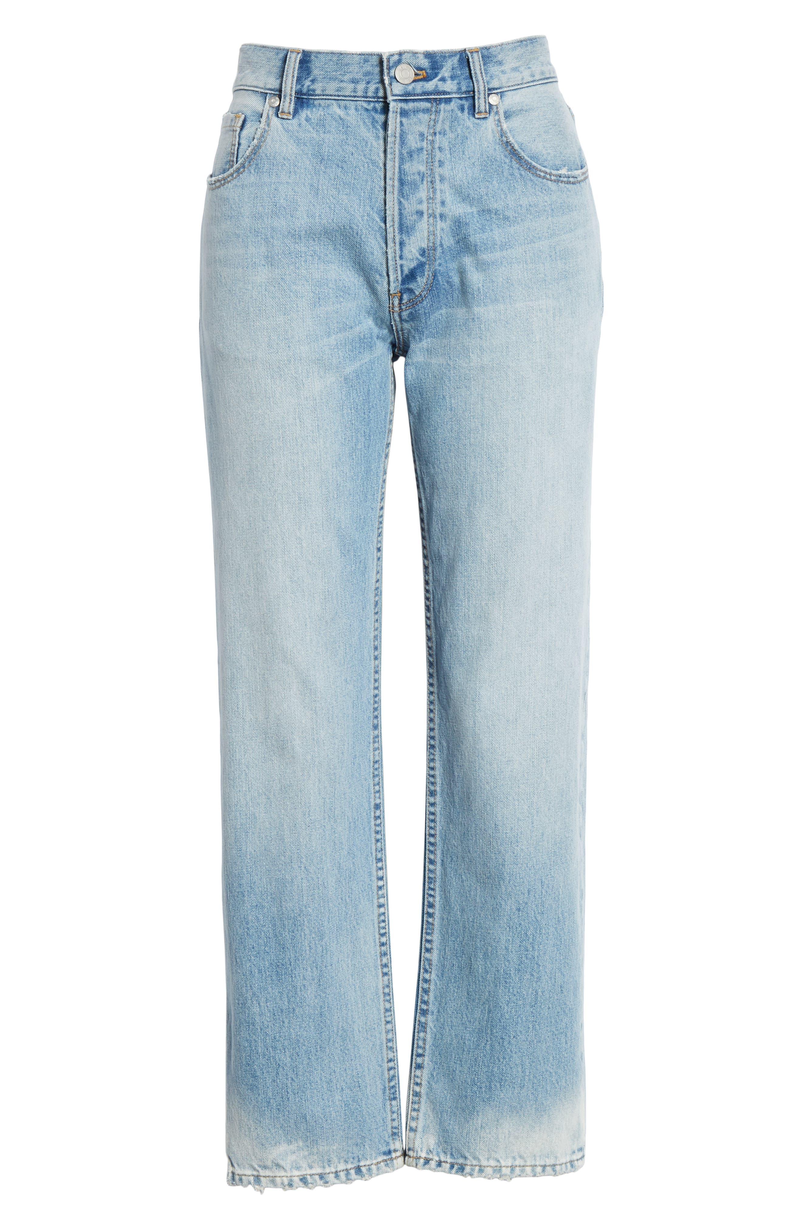 LA VIE REBECCA TAYLOR, Sylvie High Waist Jeans, Alternate thumbnail 7, color, CHANTAL WASH