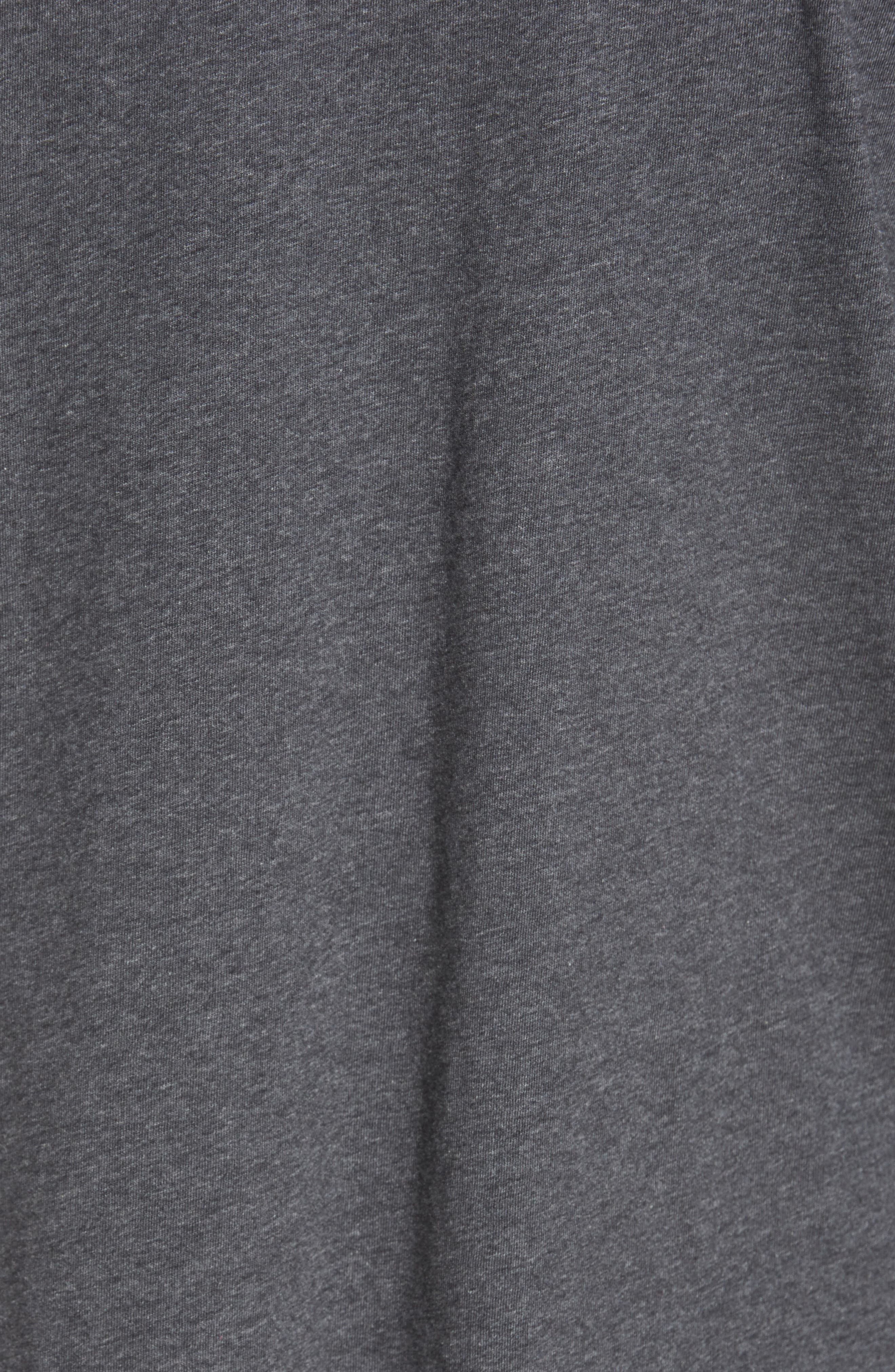 TOMMY BAHAMA, 'New Bali Sky' Original Fit Crewneck Pocket T-Shirt, Alternate thumbnail 5, color, CHARCOAL HEATHER