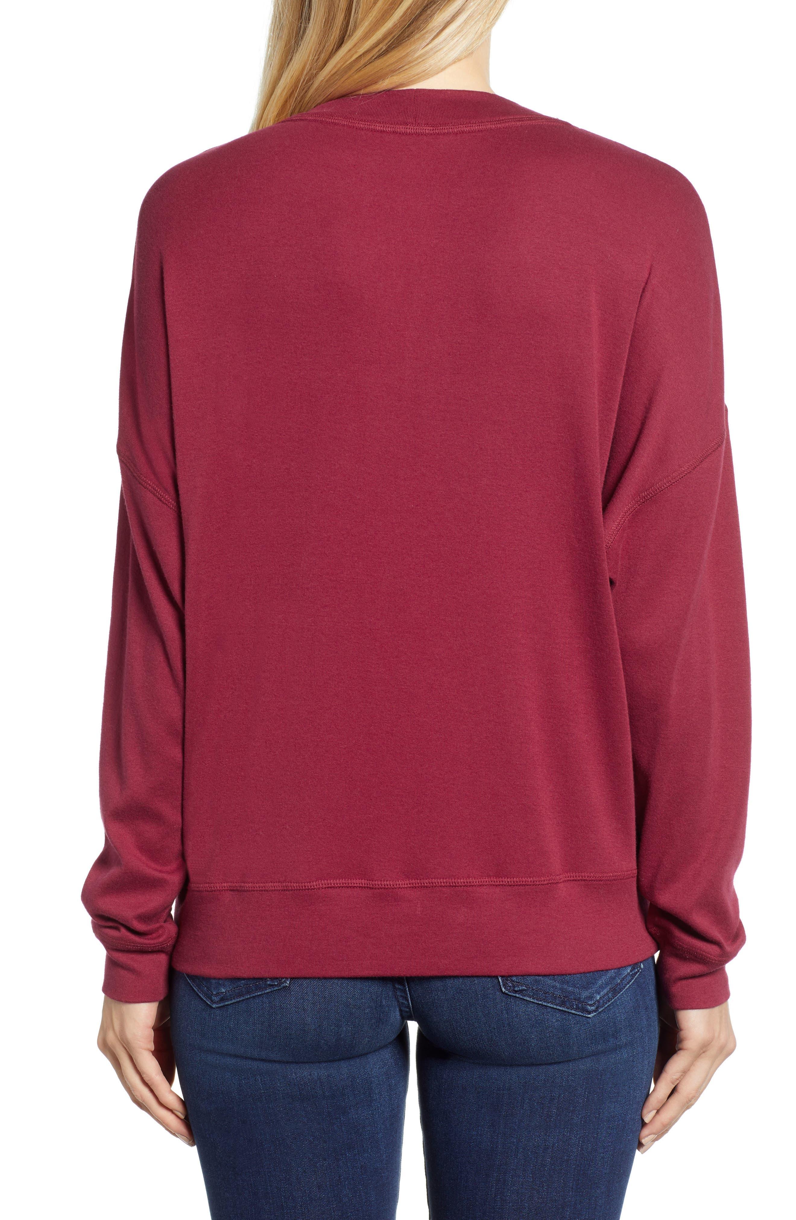 CASLON<SUP>®</SUP>, Sweatshirt, Alternate thumbnail 2, color, RED RUMBA