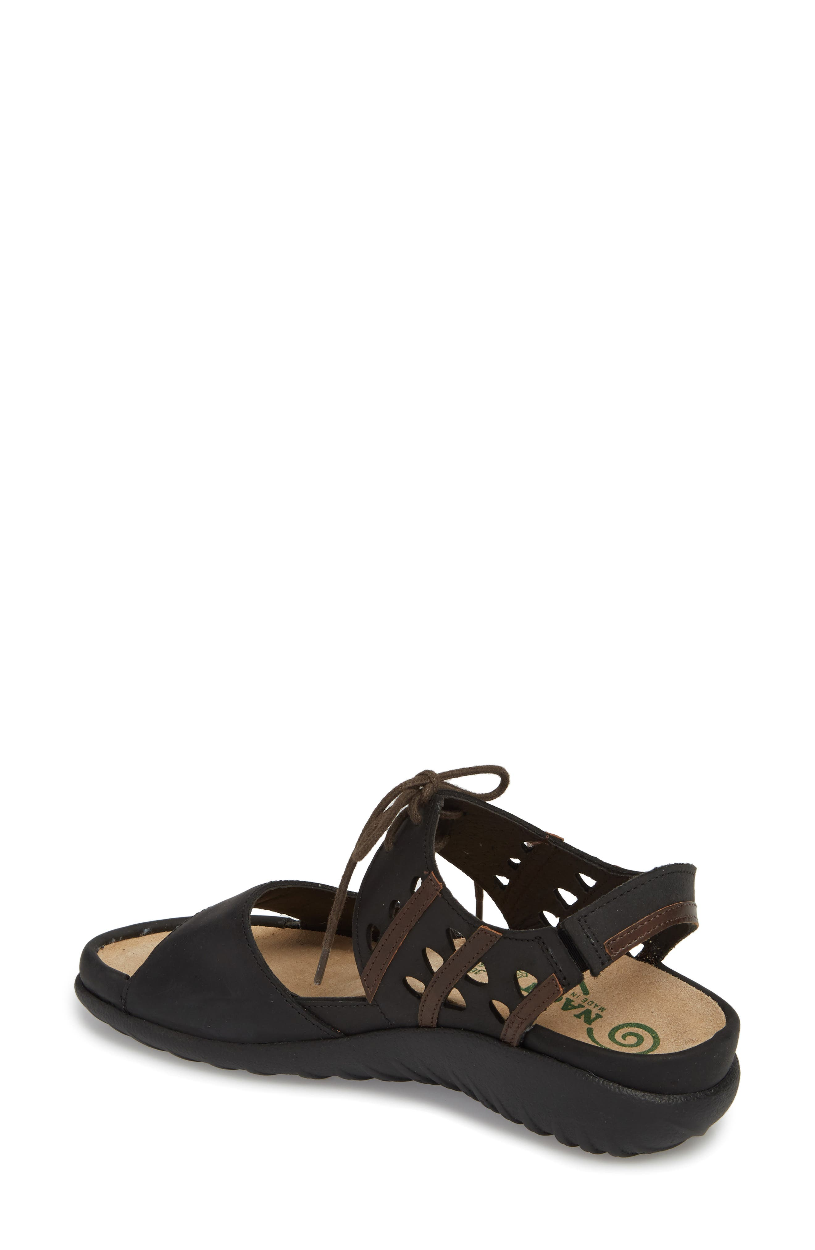 NAOT, Mangere Sandal, Alternate thumbnail 2, color, OILY COAL NUBUCK