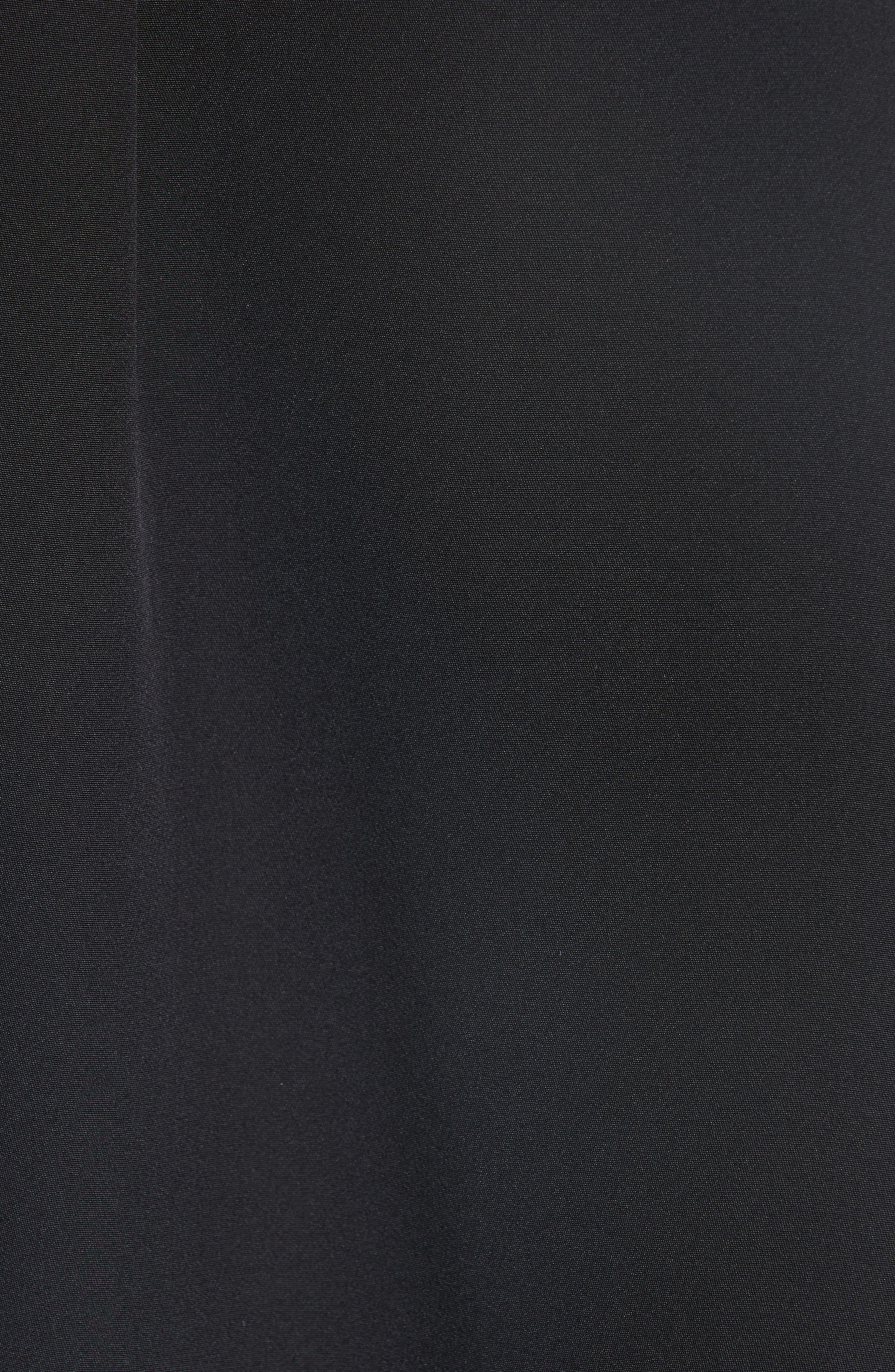 CALVIN KLEIN 205W39NYC, Satin Tie Neck Silk Blouse, Alternate thumbnail 6, color, BLACK