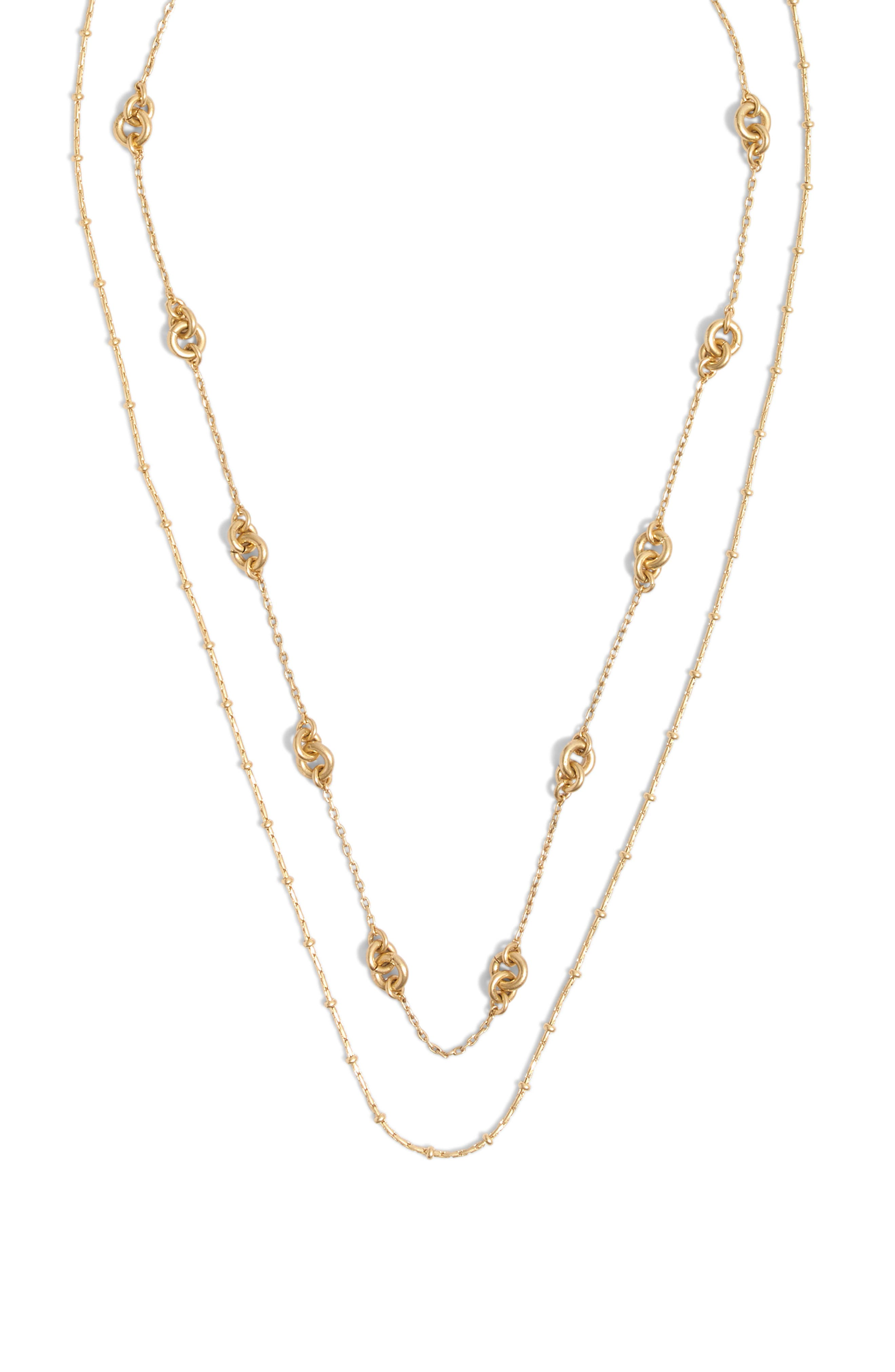 MADEWELL Layered Chain Necklace, Main, color, VINTAGE GOLD