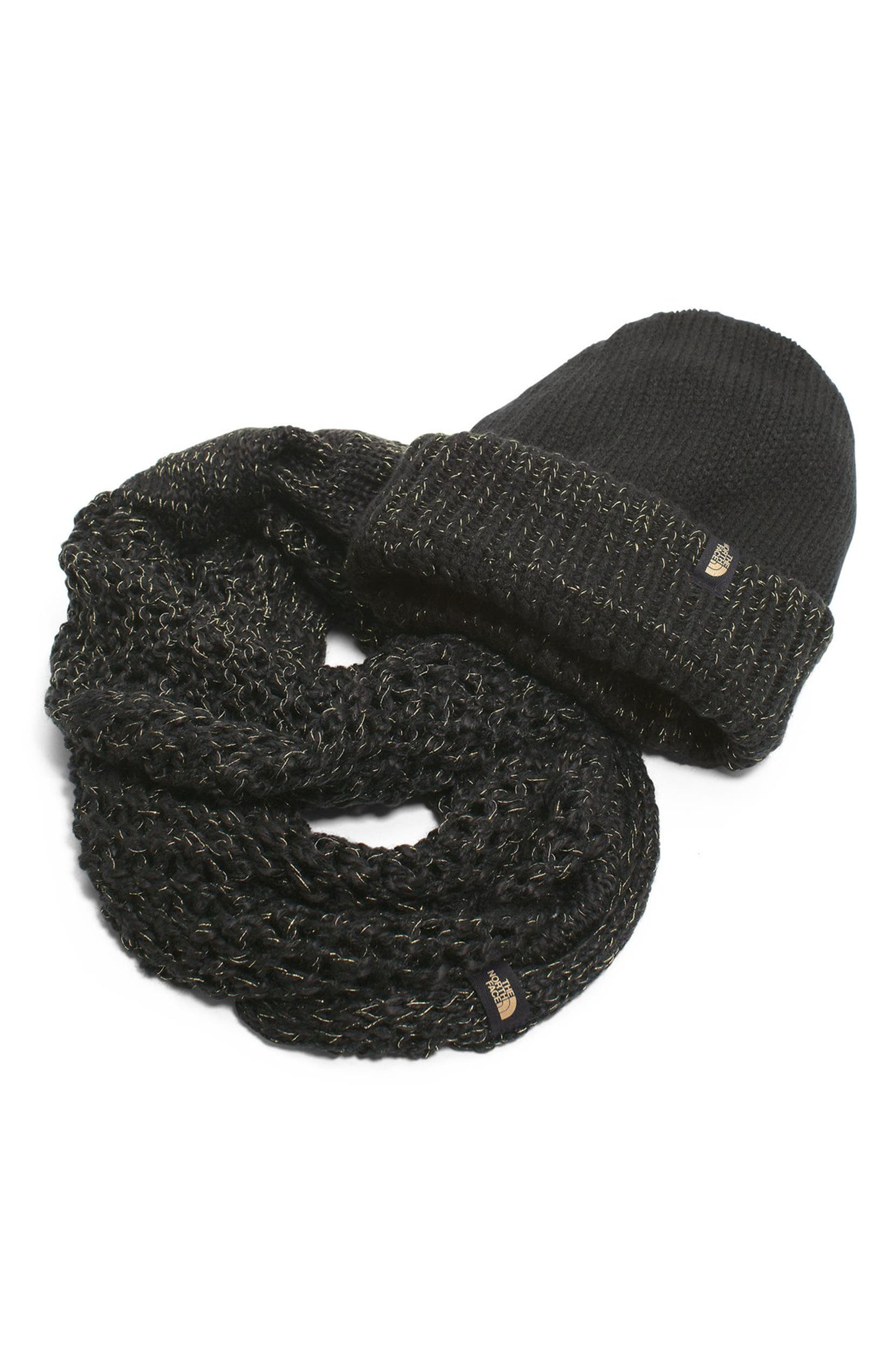 13252d526f1 The North Face The Shinsky Knitting Club Boxed Infinity Scarf   Beanie