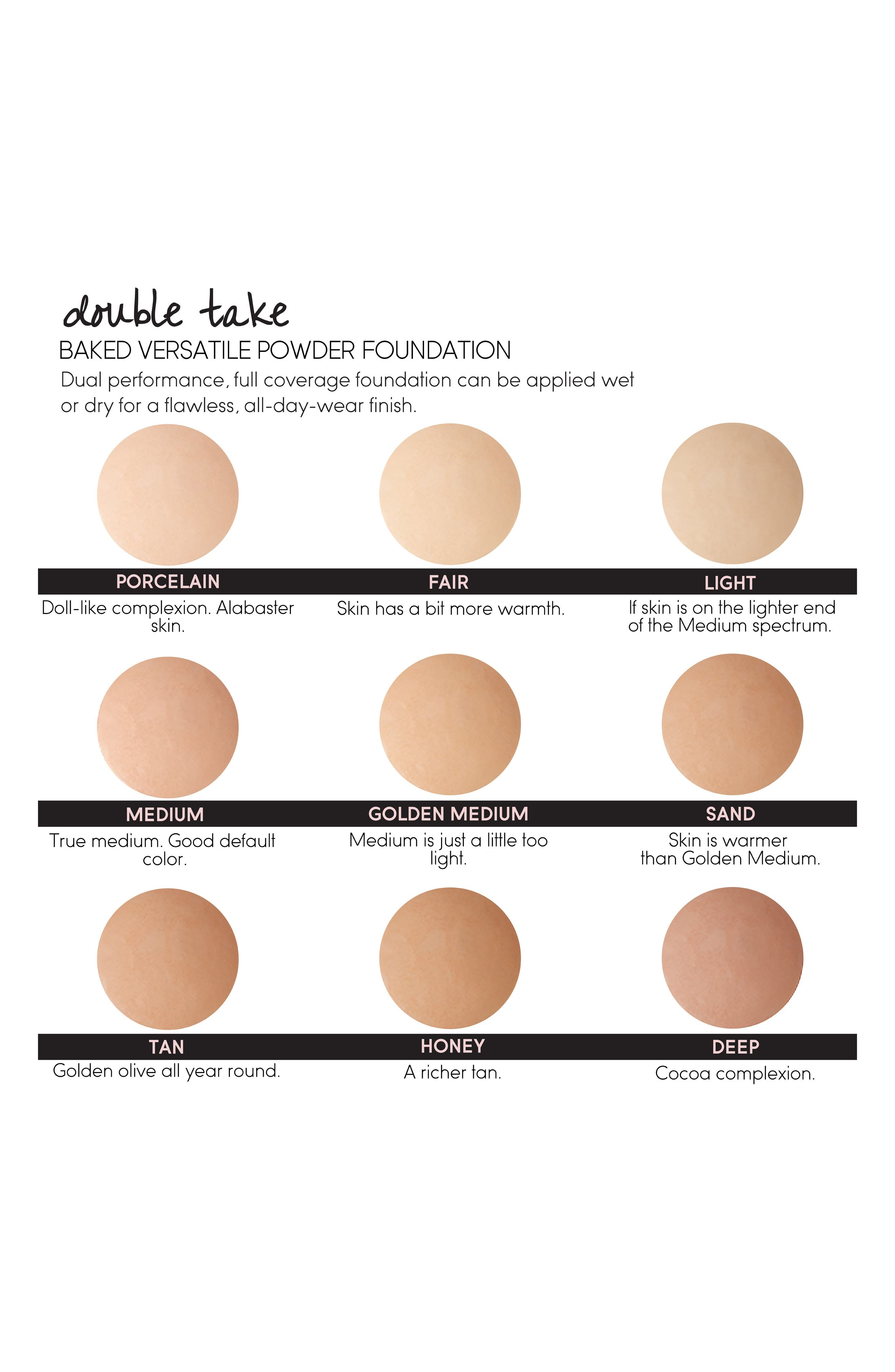 LAURA GELLER BEAUTY, Double Take Baked Versatile Powder Foundation, Alternate thumbnail 2, color, TAN