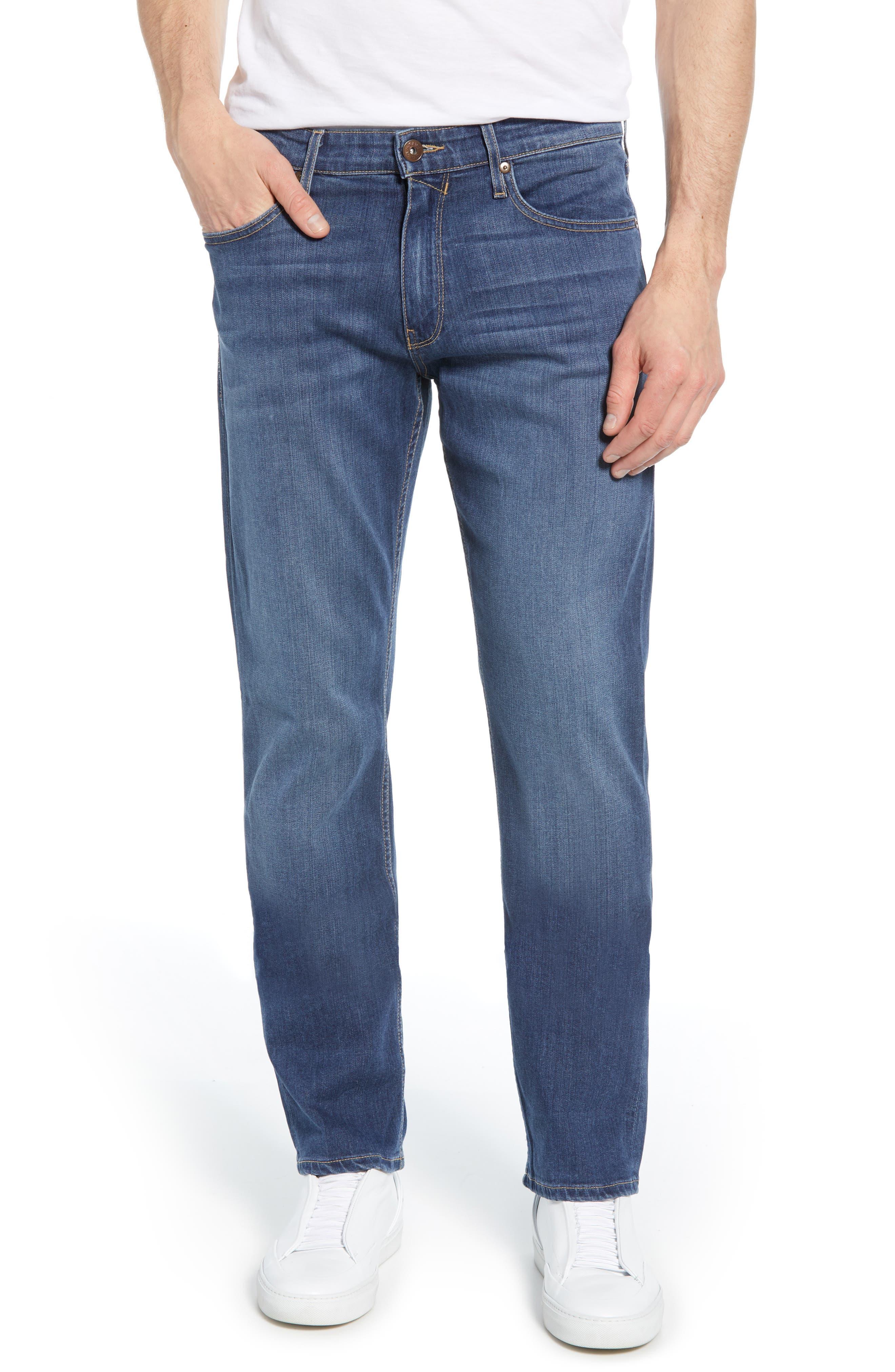 PAIGE, Transcend - Normandie Straight Leg Jeans, Alternate thumbnail 2, color, BIRCH