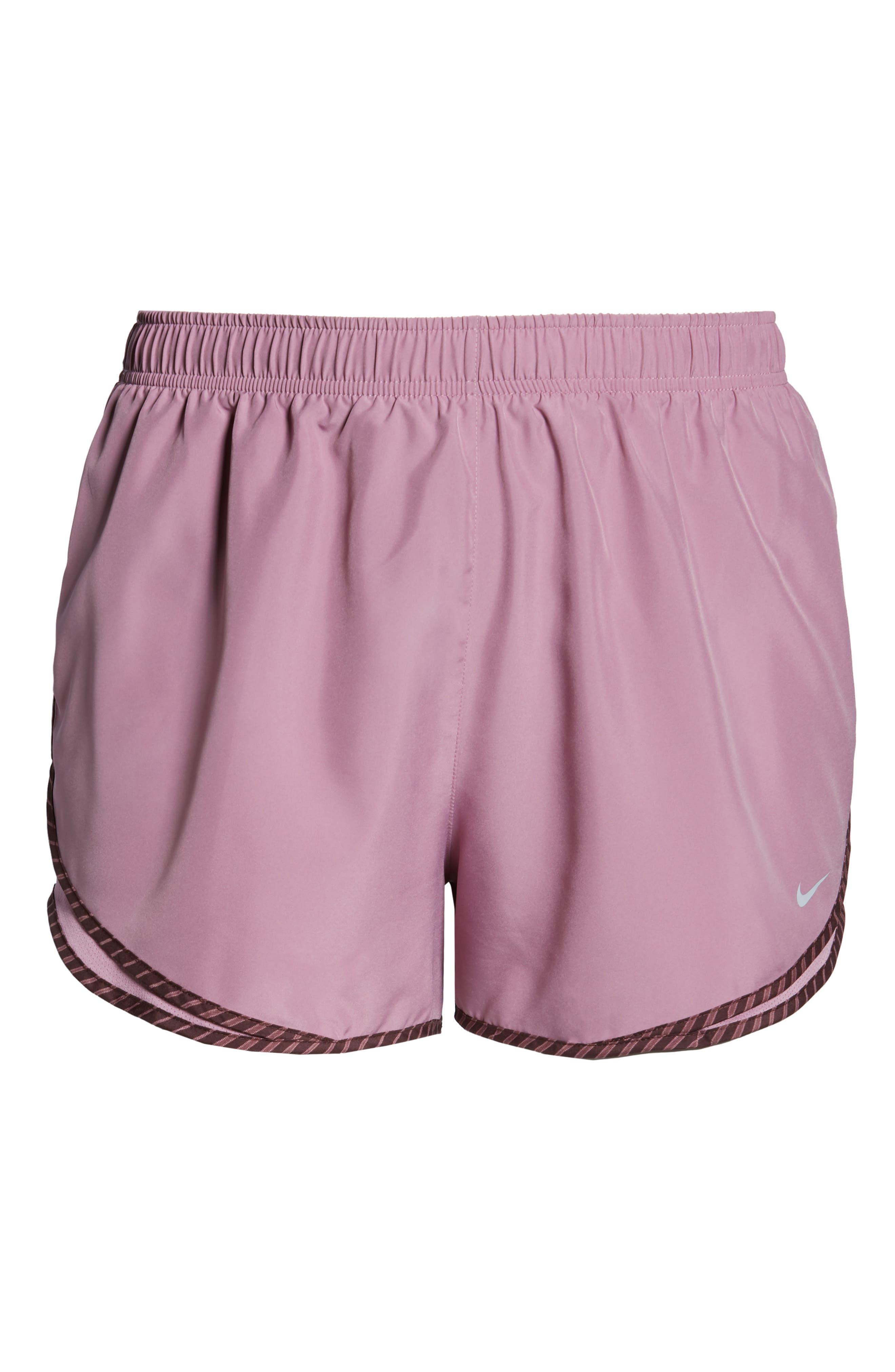 NIKE, Dry Tempo High Rise Running Shorts, Alternate thumbnail 7, color, PLUM/ EL DORADO/ WOLF GREY