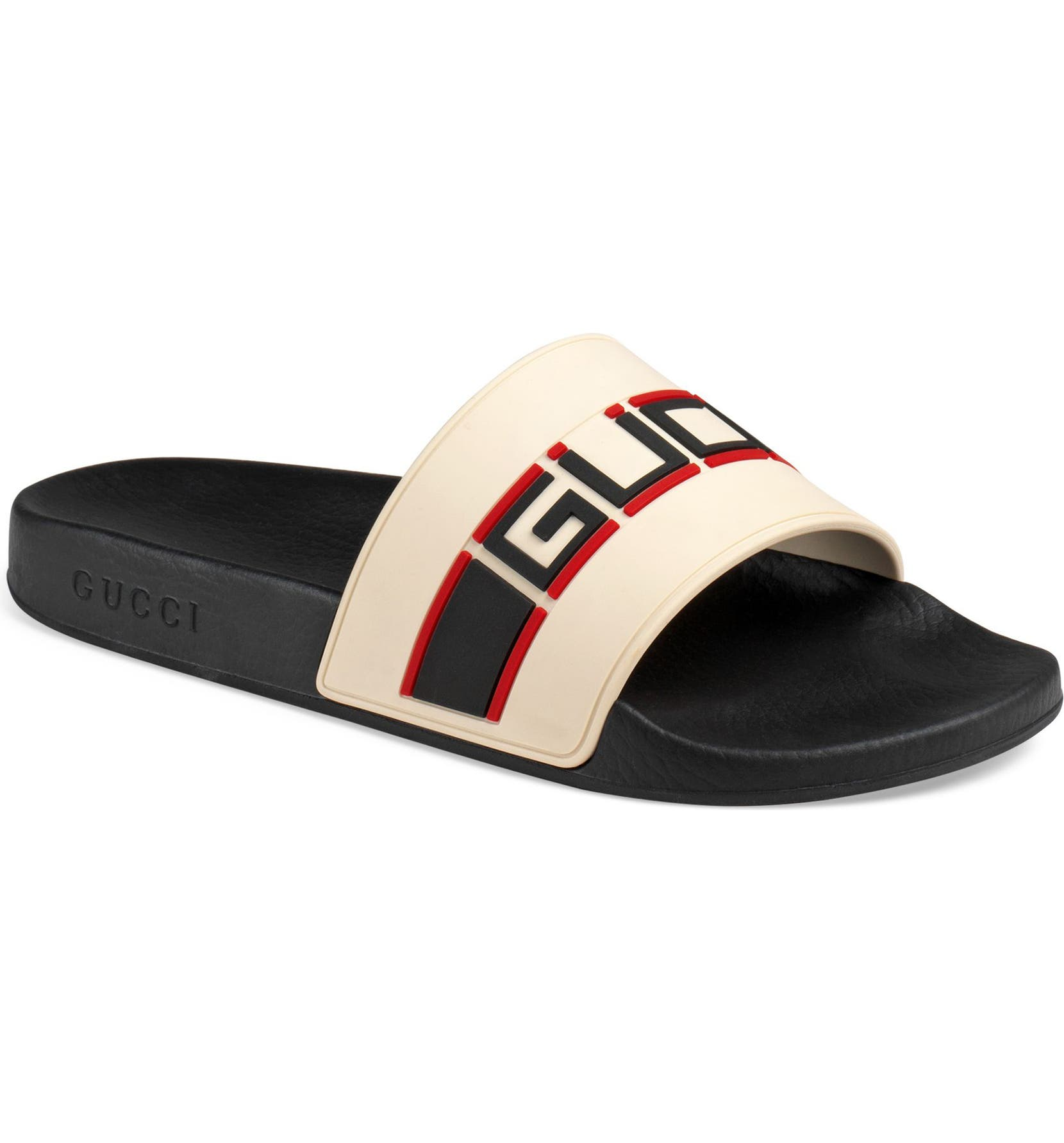 7e5a8fffccdea Gucci Pursuit Stripe Slide Sandal (Men)