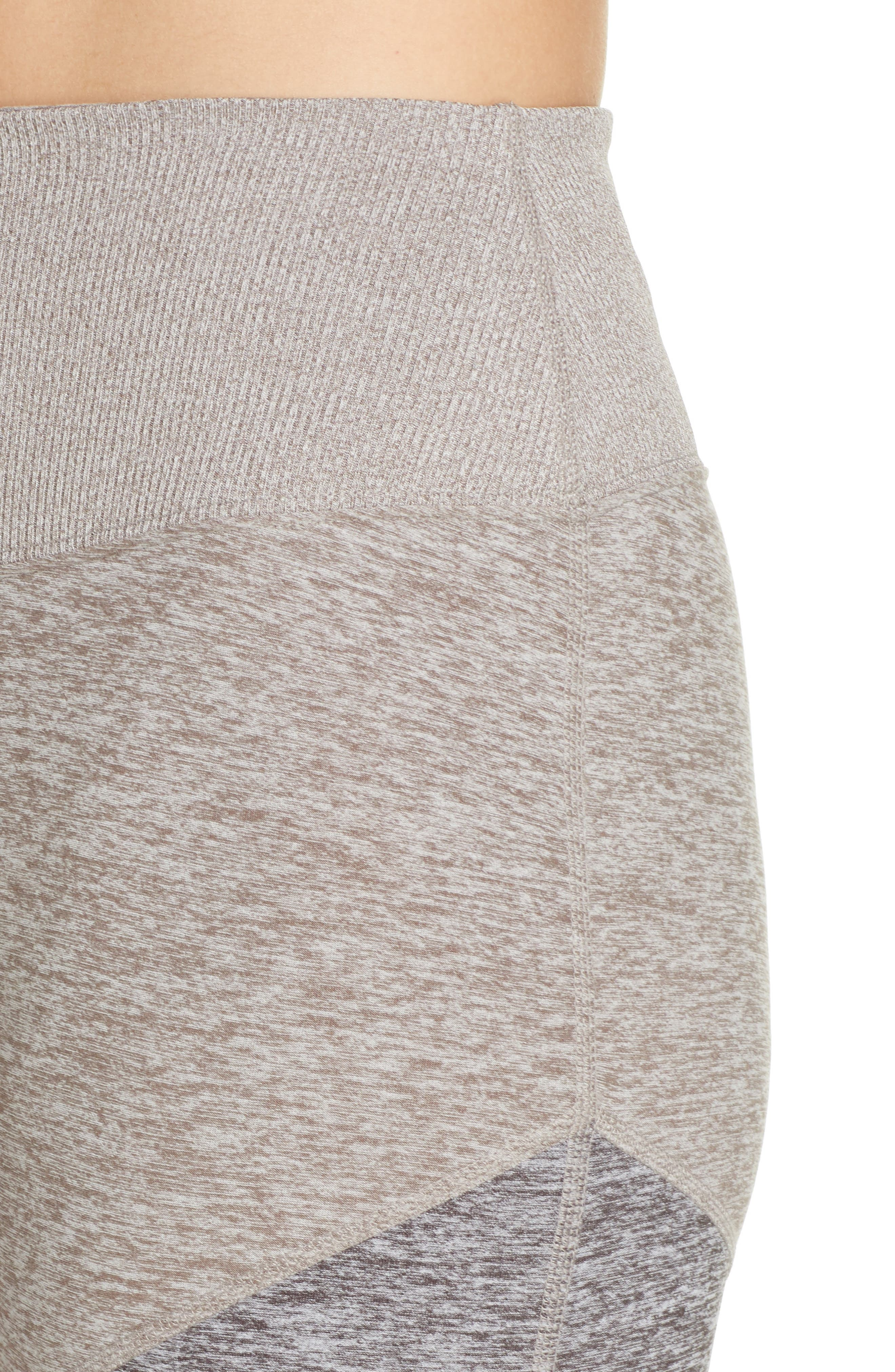 ALO, Sheila Alosoft High Waist Leggings, Alternate thumbnail 5, color, GRAVEL HEATHER/ DOVE GREY