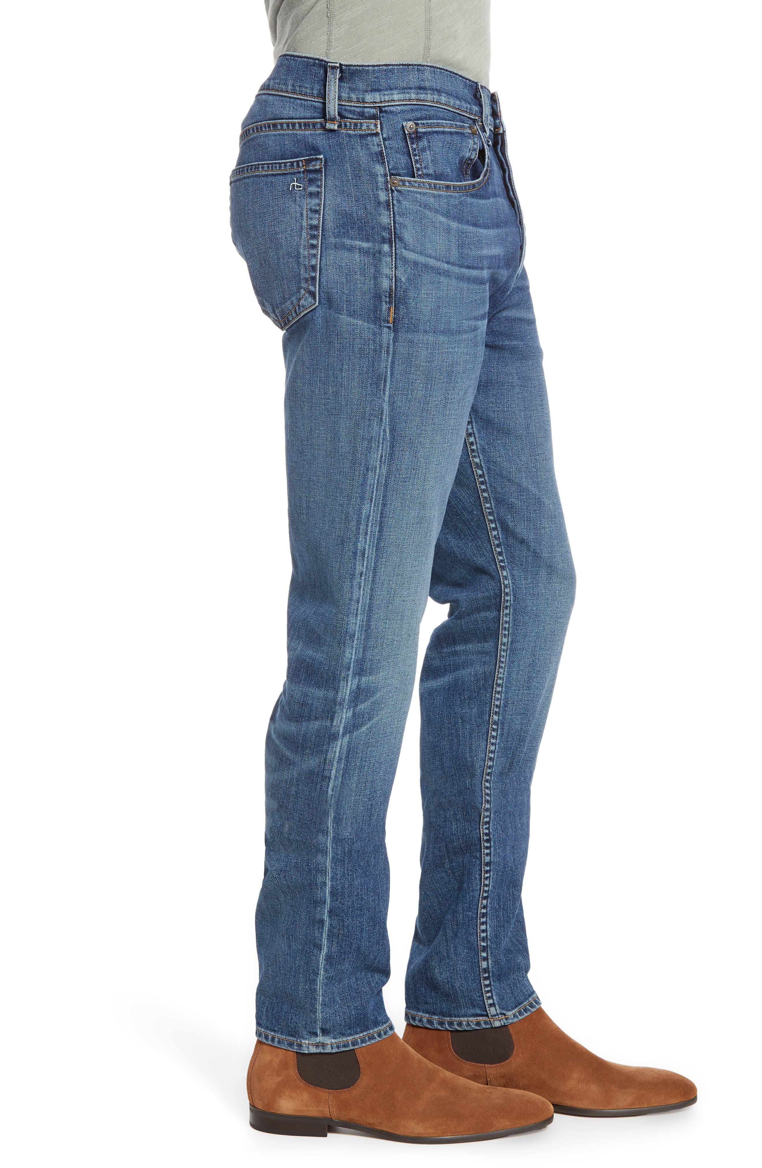 RAG & BONE, Fit 2 Slim Fit Jeans, Alternate thumbnail 4, color, THROOP