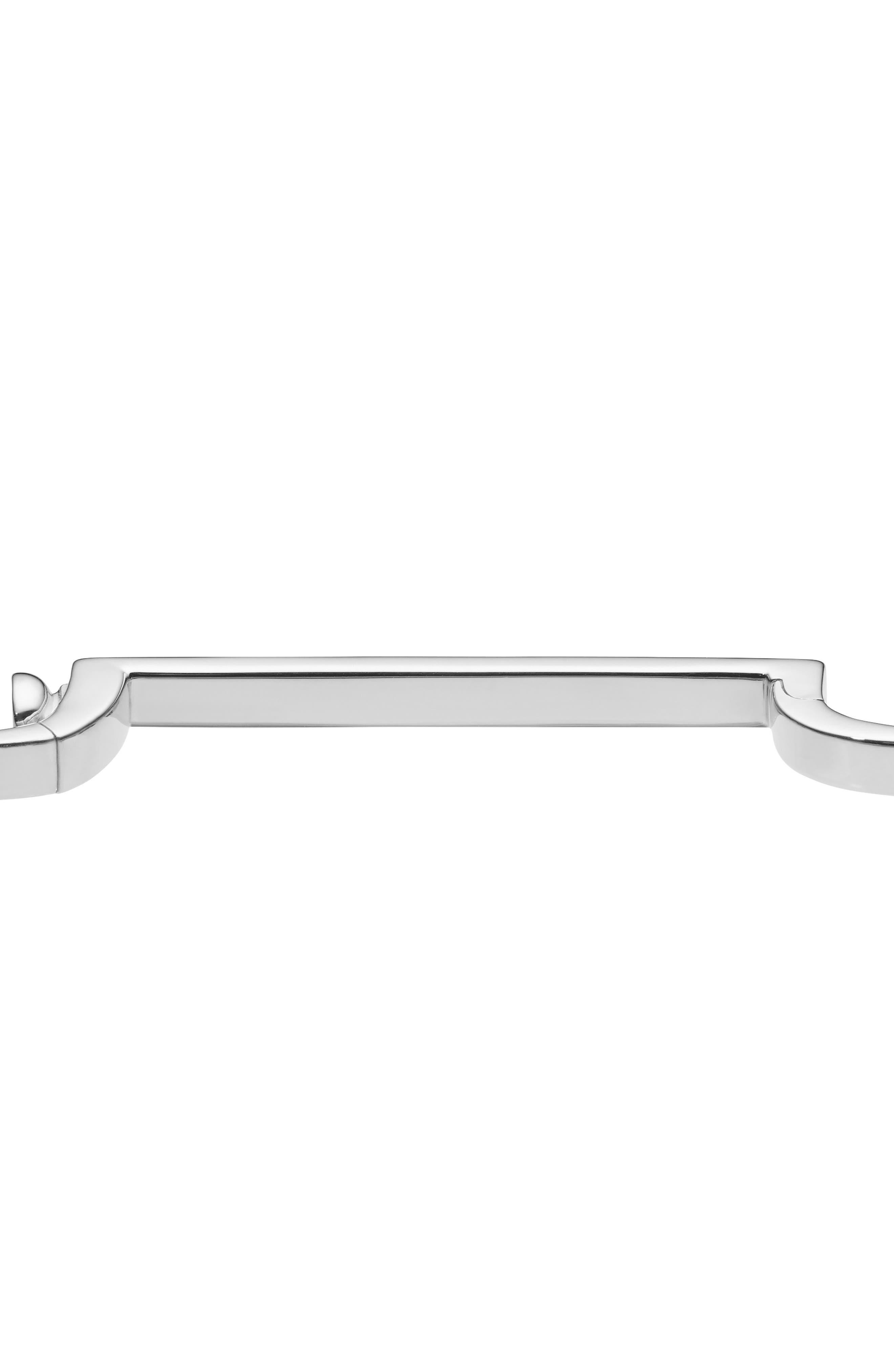 MONICA VINADER, Engravable Signature Thin Bangle Bracelet, Alternate thumbnail 3, color, SILVER