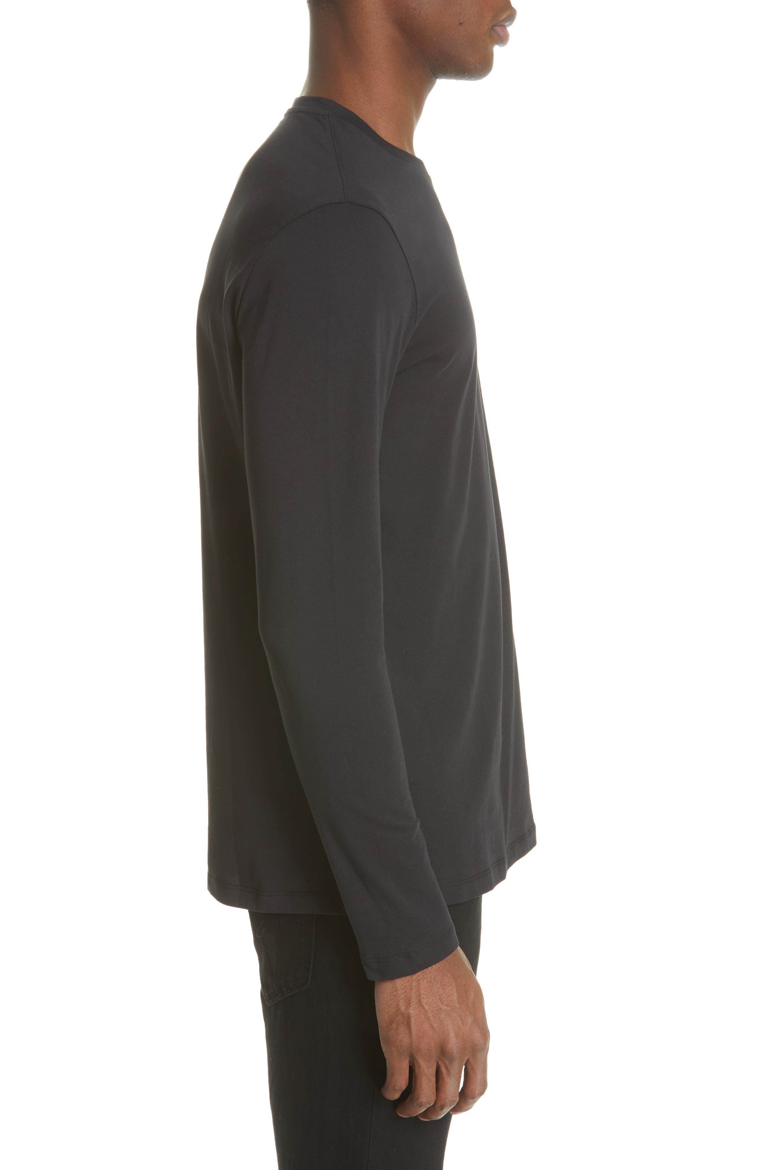 VERSACE COLLECTION, Medusa Long Sleeve T-Shirt, Alternate thumbnail 3, color, 001