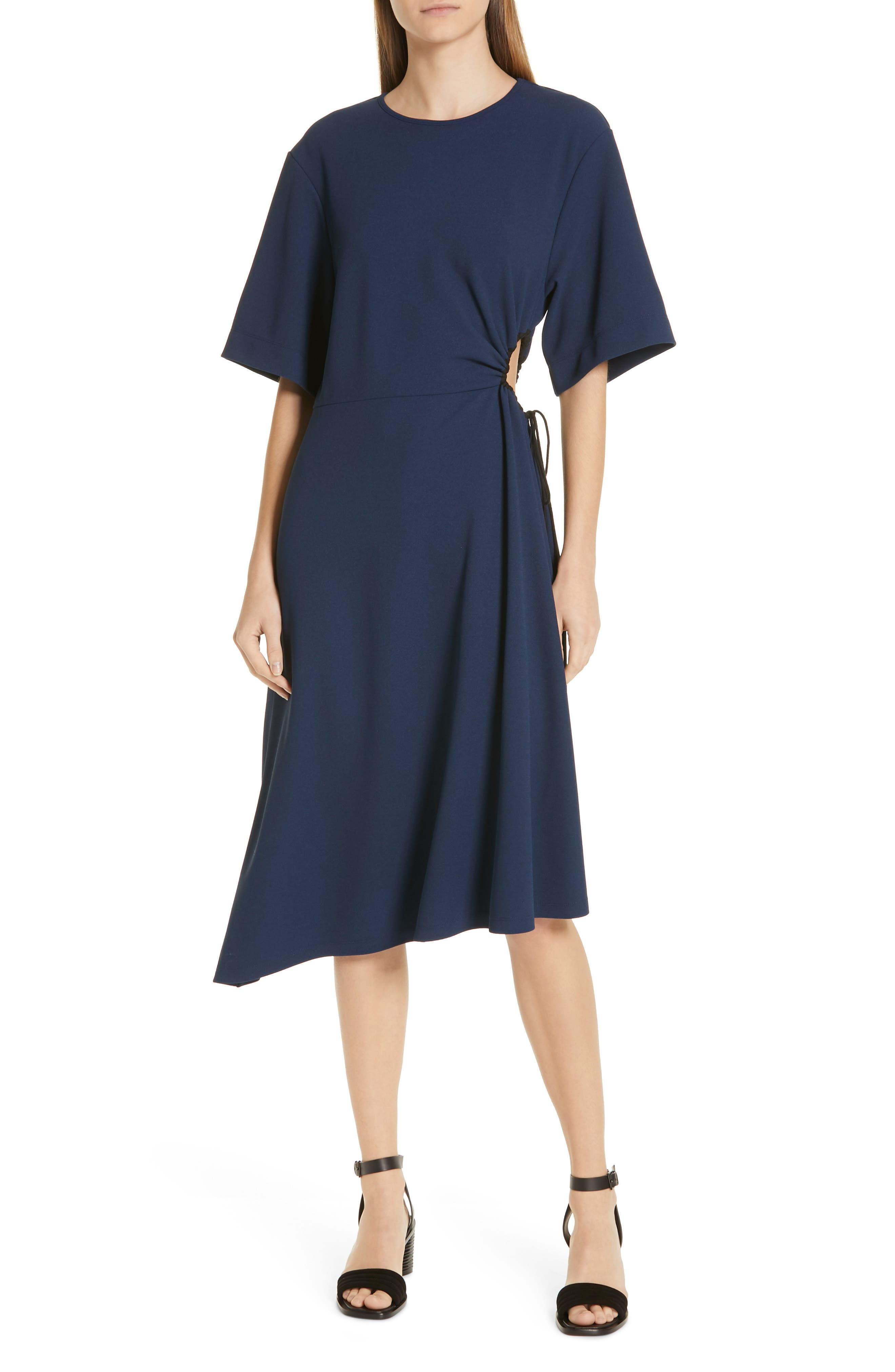 36b99583bed See By Chloe Asymmetrical Tie Cinch Waist Dress