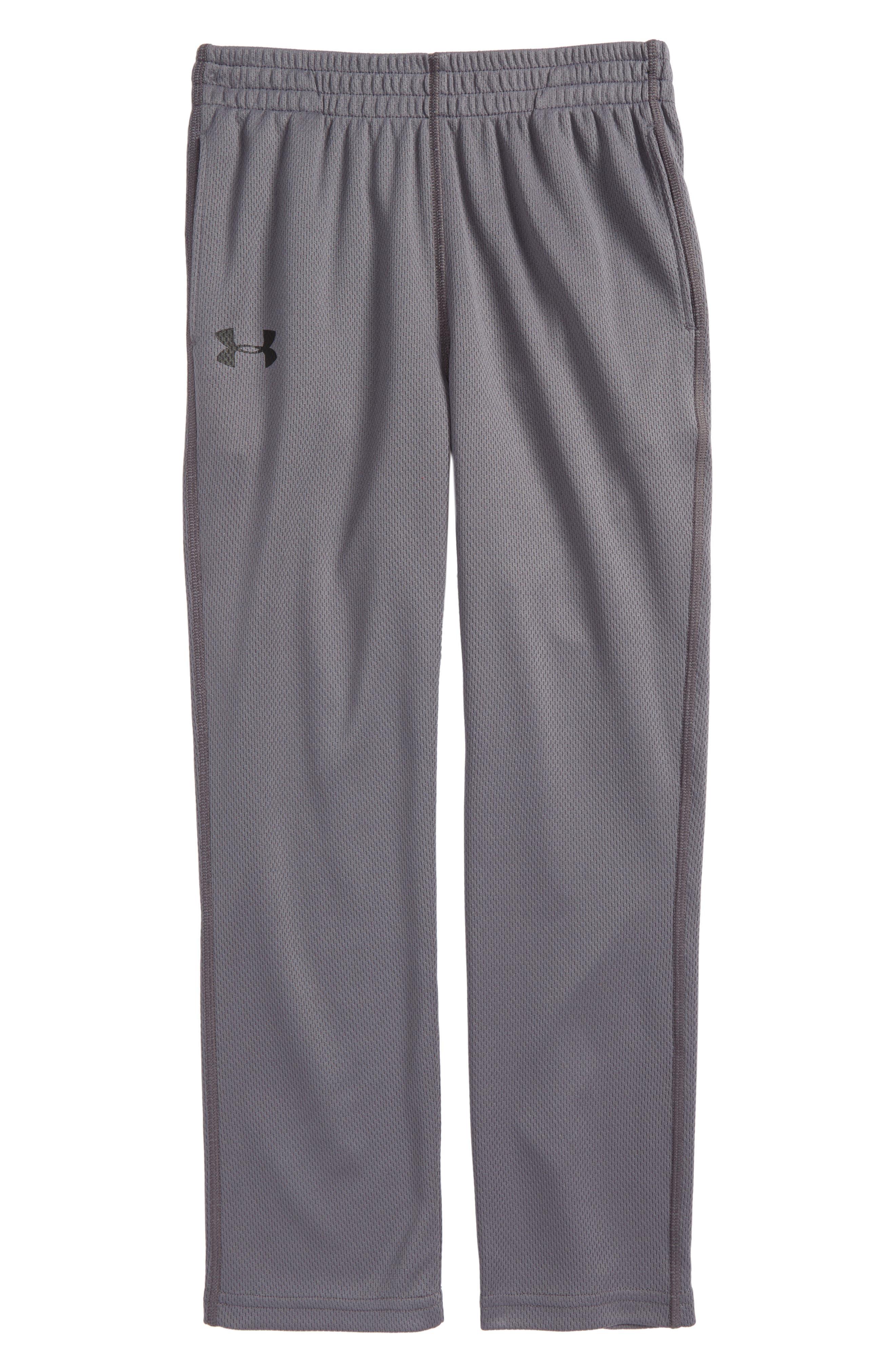 UNDER ARMOUR Mesh Pants, Main, color, GRAPHITE