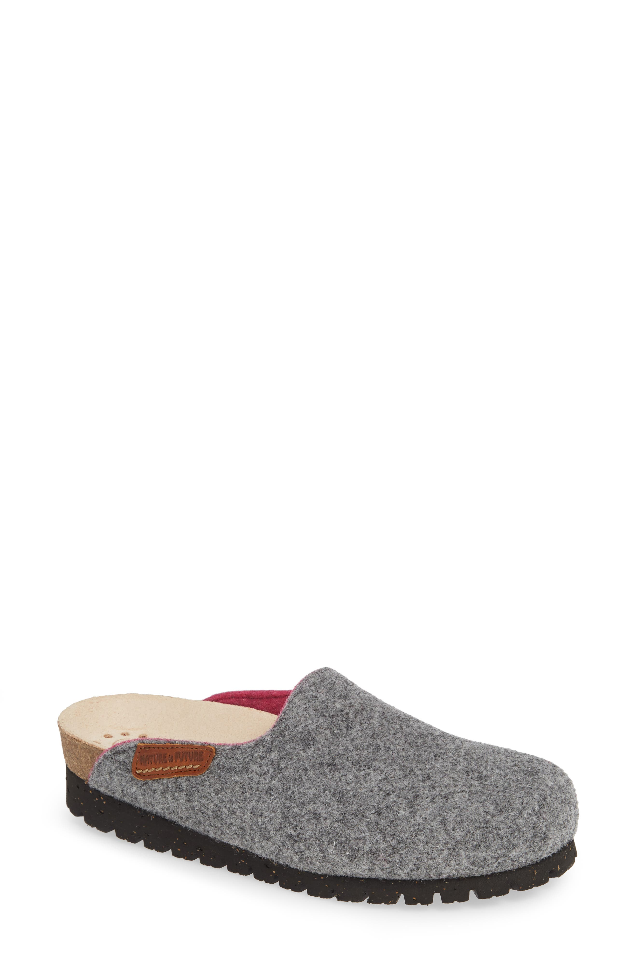 MEPHISTO Thea Boiled Wool Clog, Main, color, GREY FABRIC